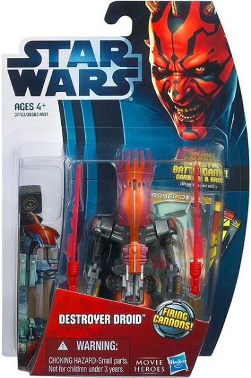 Star Wars The Phantom Menace Movie Heroes 2012 Destroyer Droid Action Figure #12 [Firing Cannons]