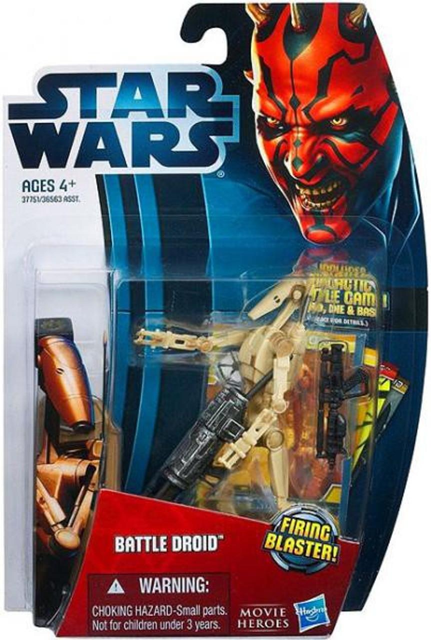 Star Wars The Phantom Menace Movie Heroes 2012 Battle Droid Action Figure #4 [Random Color]