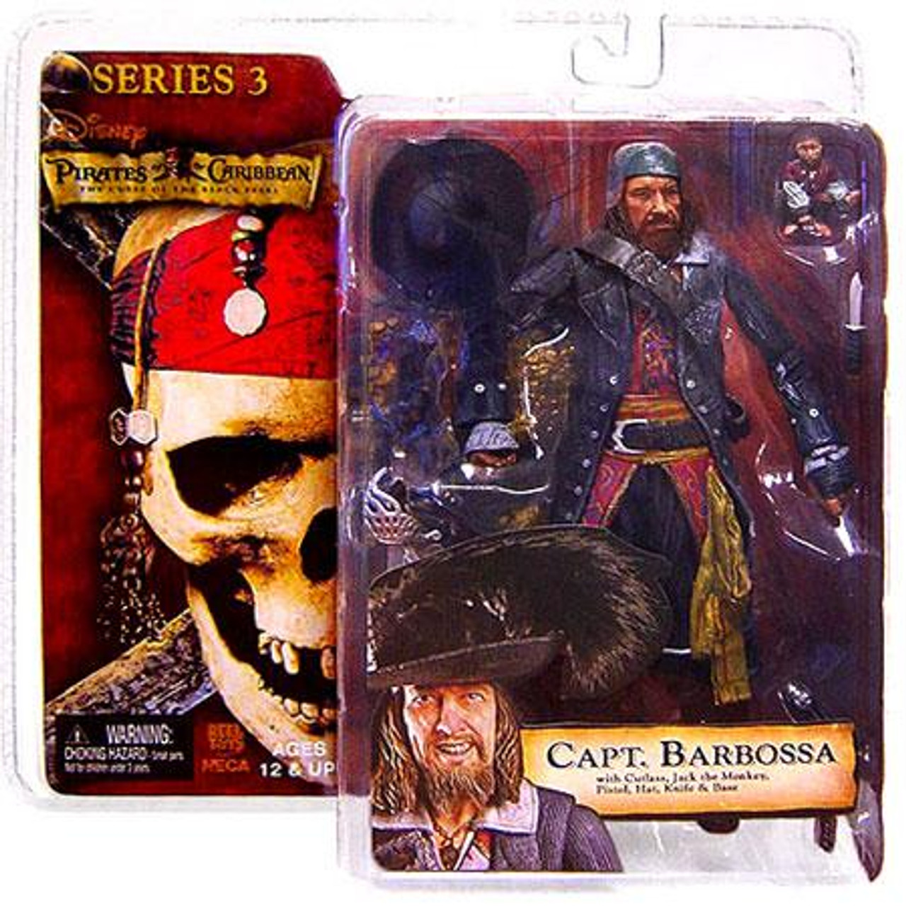 NECA Pirates of the Caribbean Curse of the Black Pearl Series 3 Captain Barbossa Action Figure