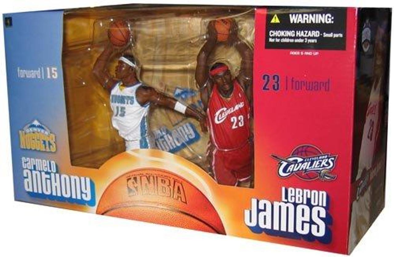 McFarlane Toys NBA Denver Nuggets / Cleveland Cavaliers Sports Picks Carmelo Anthony & Lebron James Action Figure 2-Pack