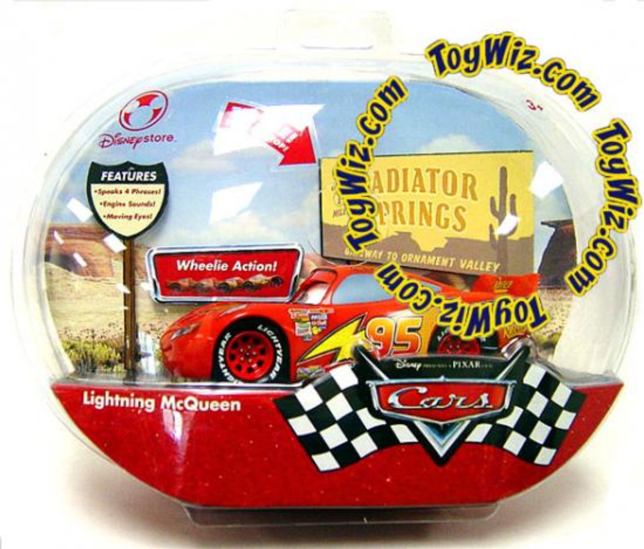 Disney Cars Collector's Talking Lightning McQueen Exclusive Diecast Car