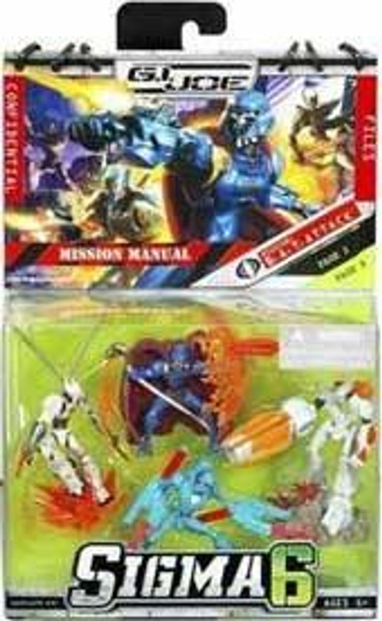 GI Joe Sigma 6 Series 1 Cobra Commander BAT Pack 2.5-Inch Mini Figure Set