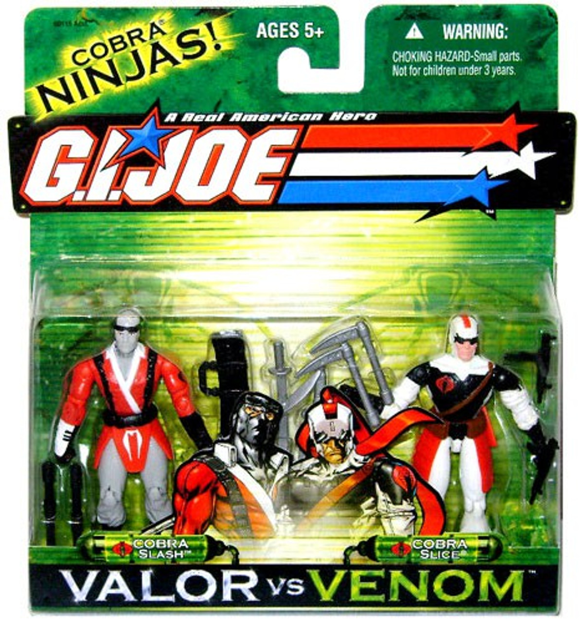 GI Joe Valor vs. Venom Cobra Slash & Cobra Slice Action Figure 2-Pack