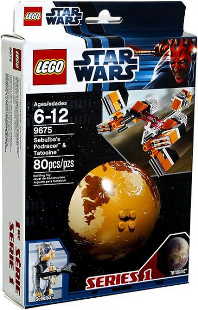 LEGO Star Wars The Phantom Menace Planets Series 1 Sebulba's Podracer & Tatooine Set #9675