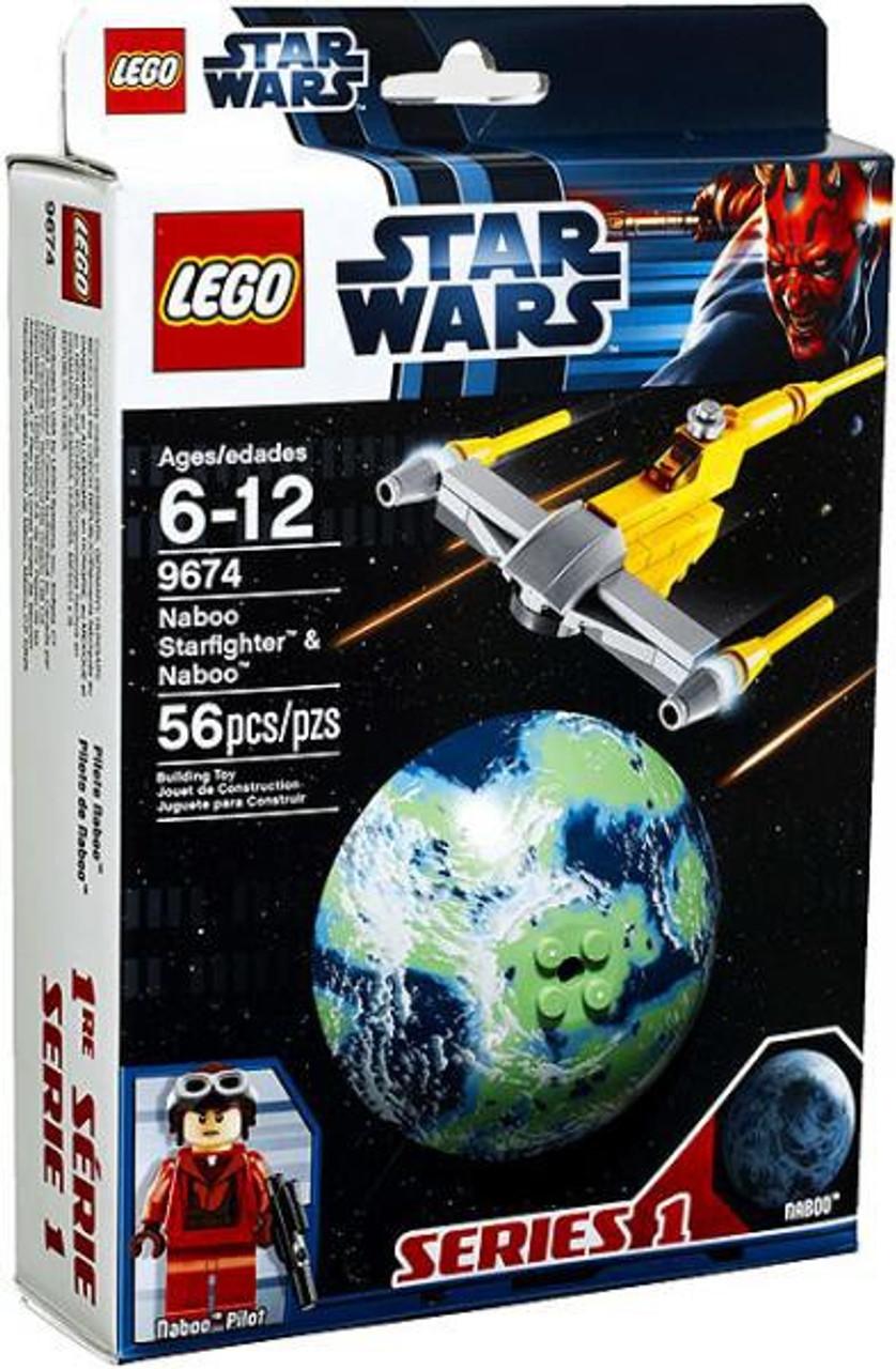 LEGO Star Wars The Phantom Menace Planets Series 1 Naboo Starfighter & Naboo Set #9674