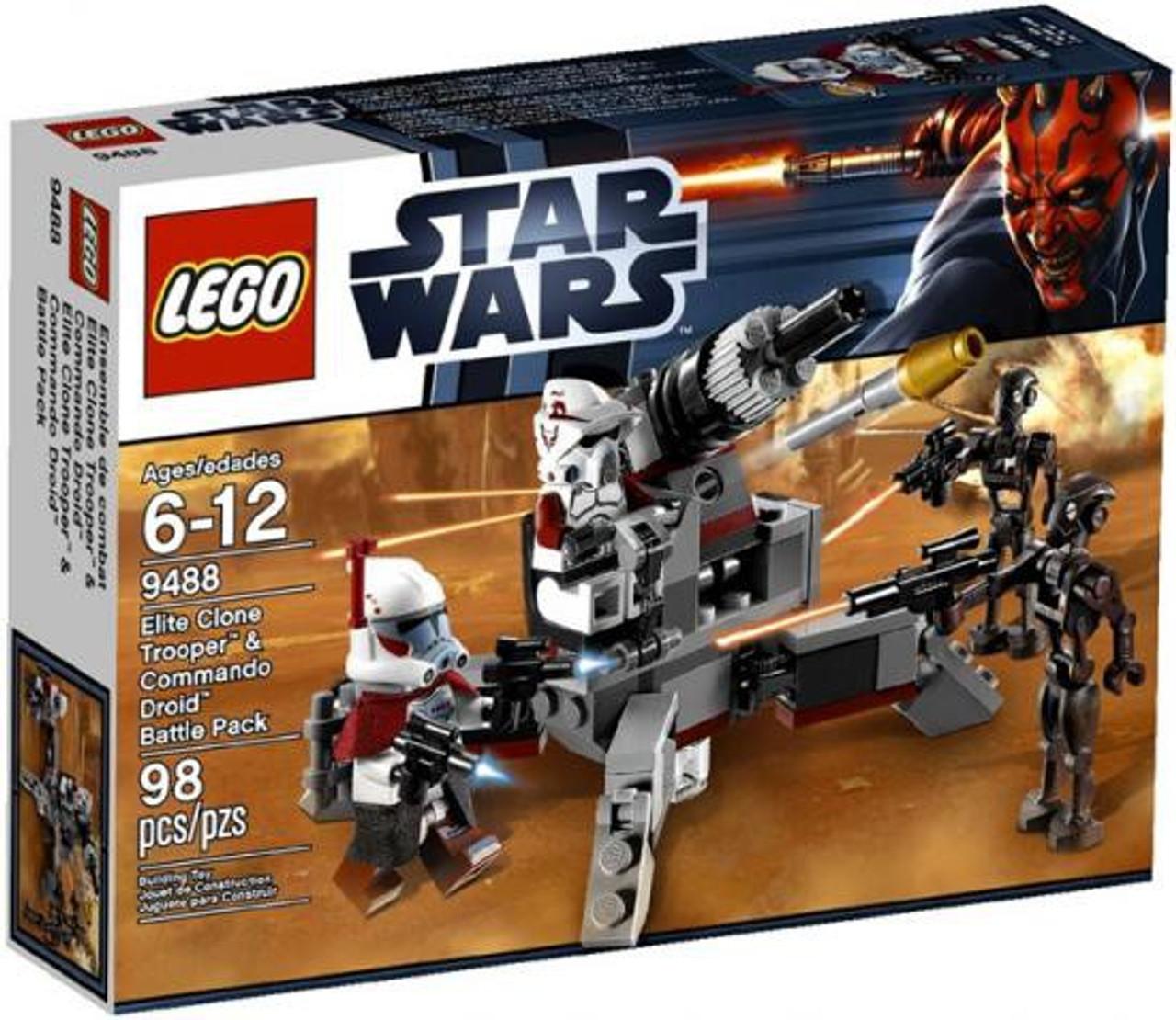 LEGO Star Wars The Clone Wars Elite Clone Trooper & Commando Droid Battle Pack Set #9488