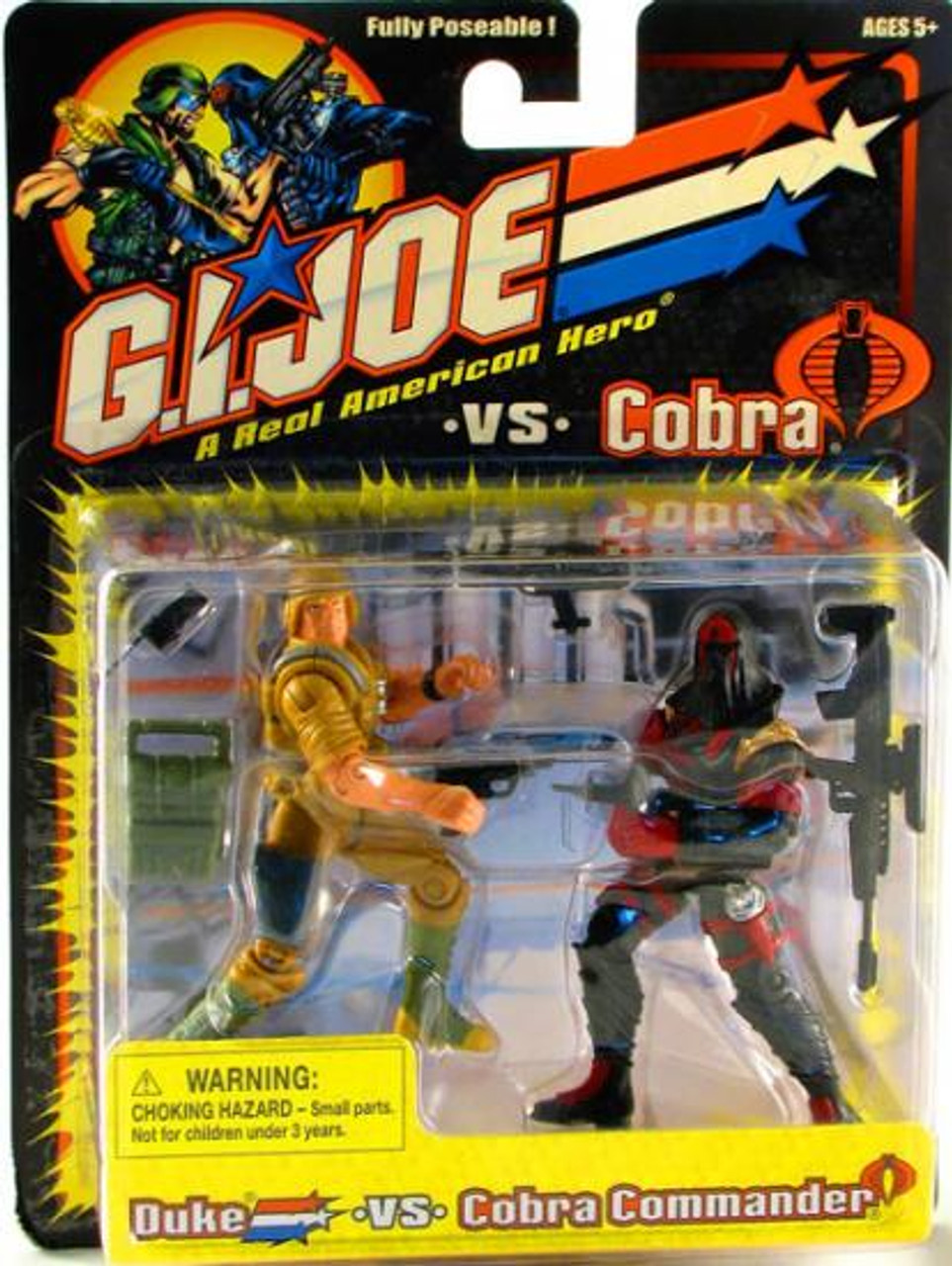 GI Joe A Realm American Hero vs Cobra Duke vs. Cobra Commander Action Figure 2-Pack