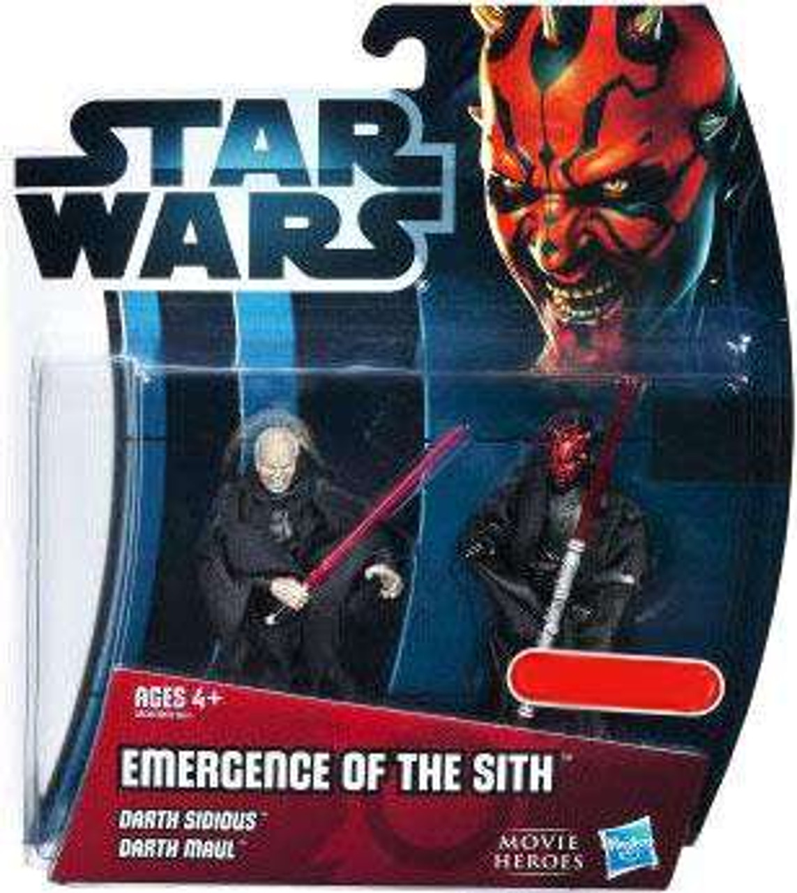 Star Wars The Phantom Menace Movie Heroes 2012 Emergence of the Sith Exclusive Action Figure 2-Pack [Darth Sidious & Darth Maul]