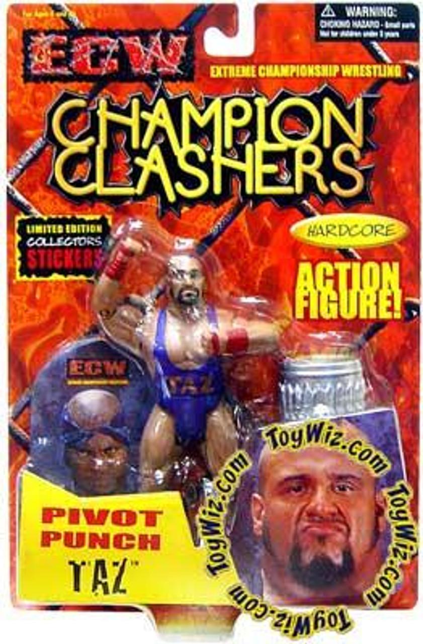 ECW Wrestling Champion Clashers Pivot Punch Taz Action Figure