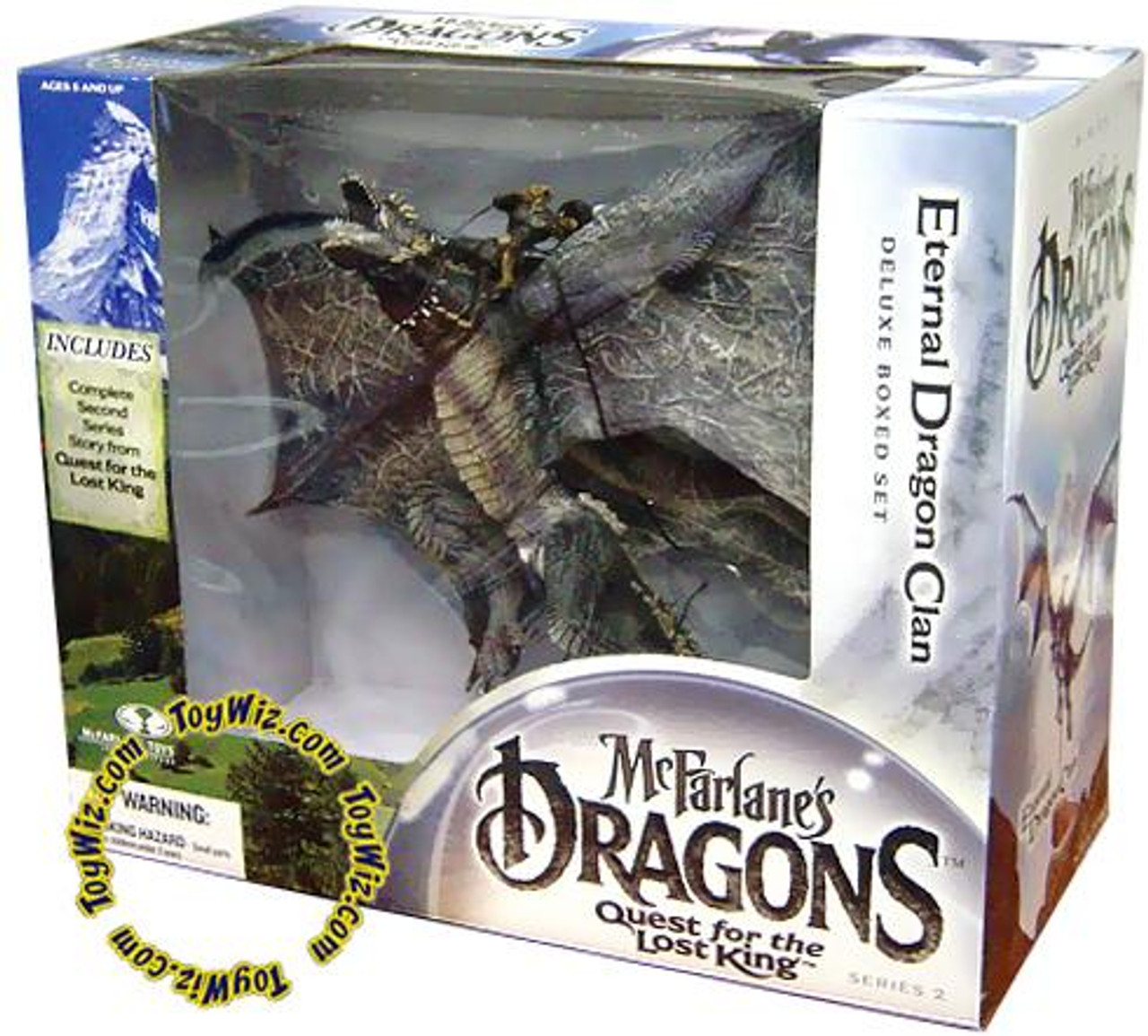 McFarlane Toys Dragons Quest for the Lost King Series 2 Eternal Dragon Clan Action Figure