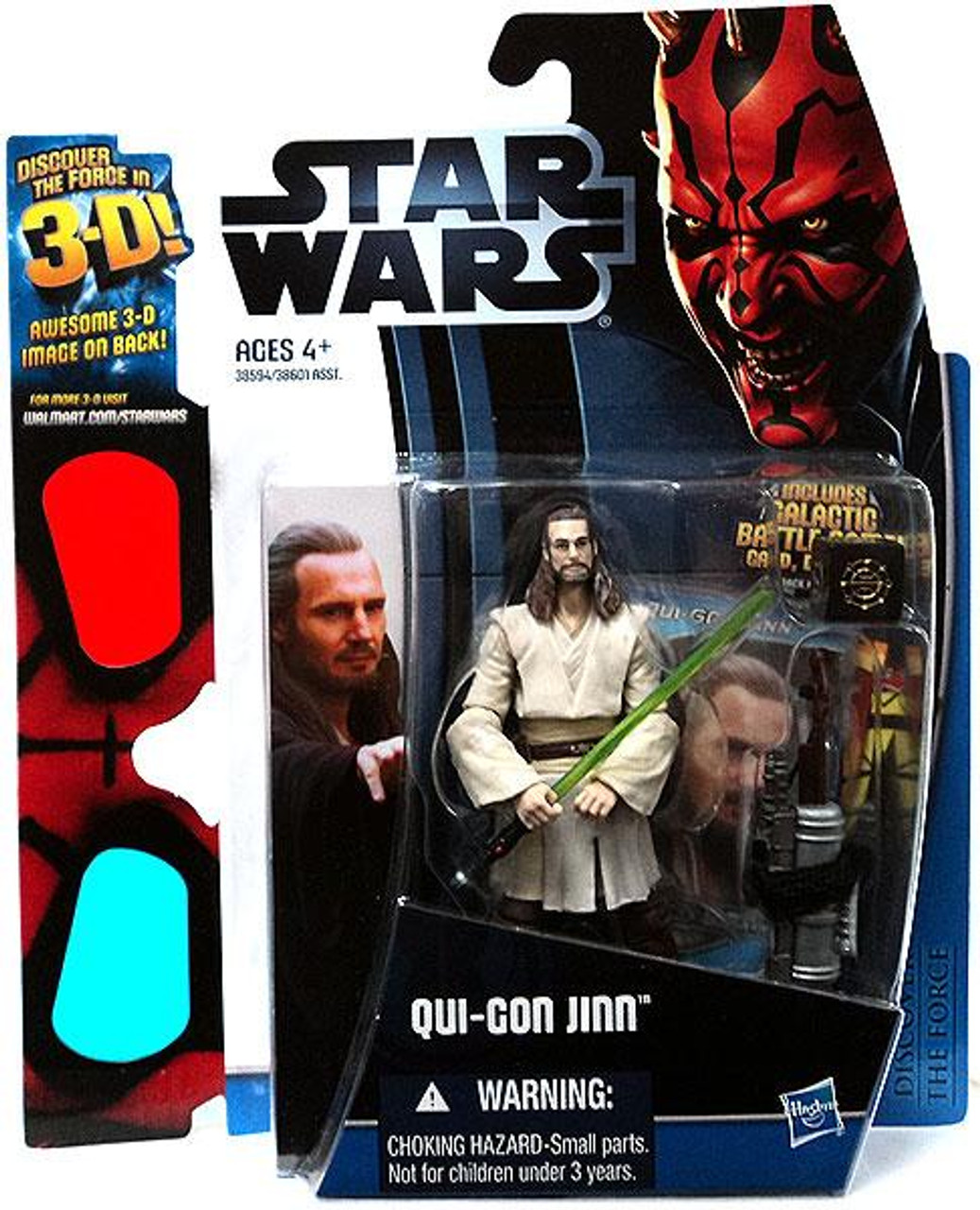 Star Wars The Phantom Menace Discover the Force 2012 Qui-Gon Jinn Exclusive Action Figure