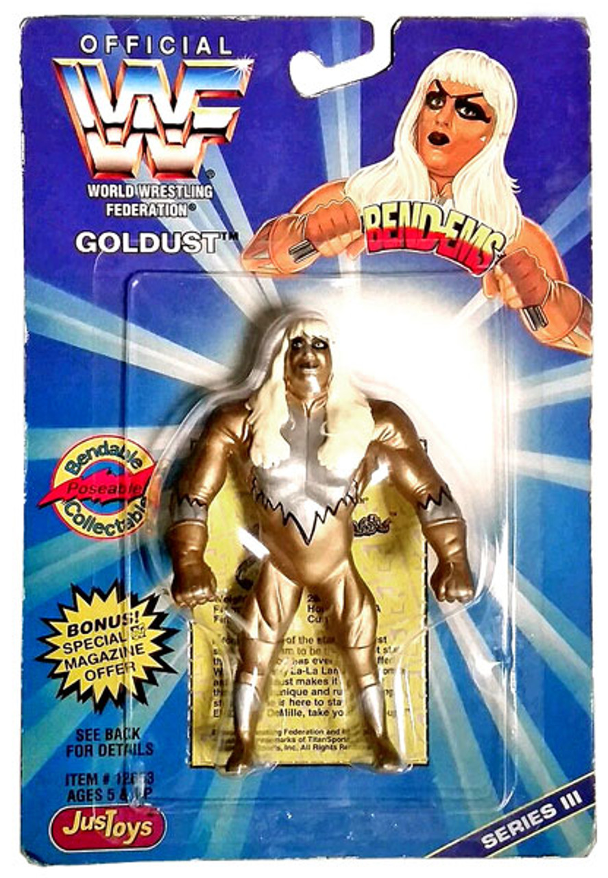 WWE Wrestling WWF Bend-Ems Series 3 Goldust Rubber Figure