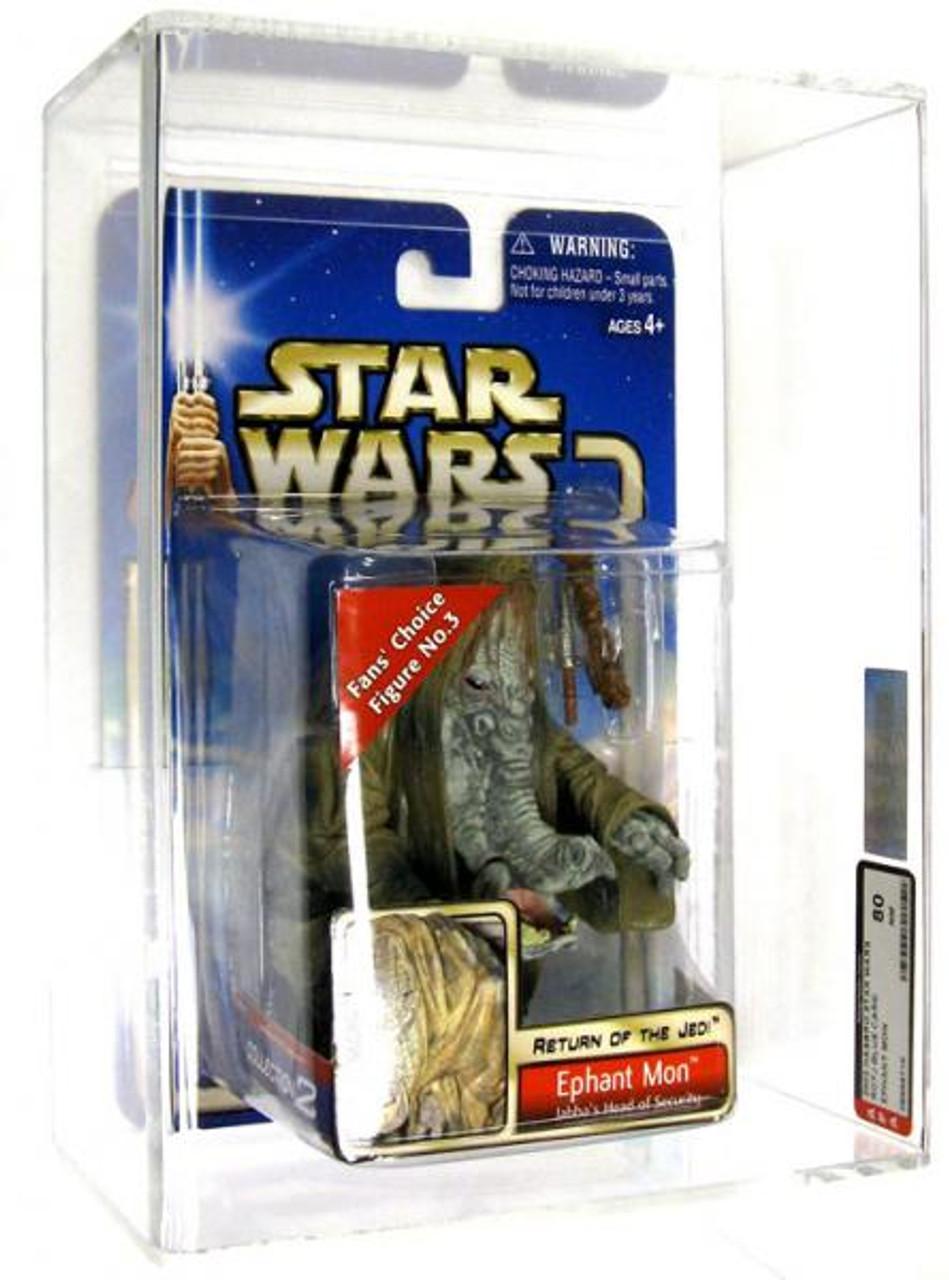 Star Wars Return of the Jedi Saga 2002 Ephant Mon Action Figure [Jabba's Head of Security, AFA 80] [AFA Graded 80]