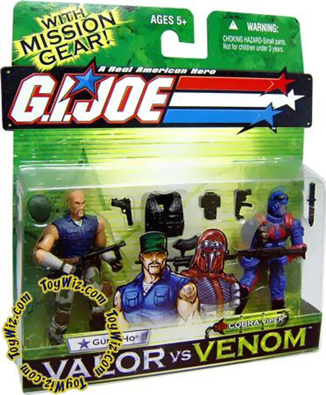 GI Joe Valor vs. Venom Gung Ho & Cobra Viper Action Figure 2-Pack