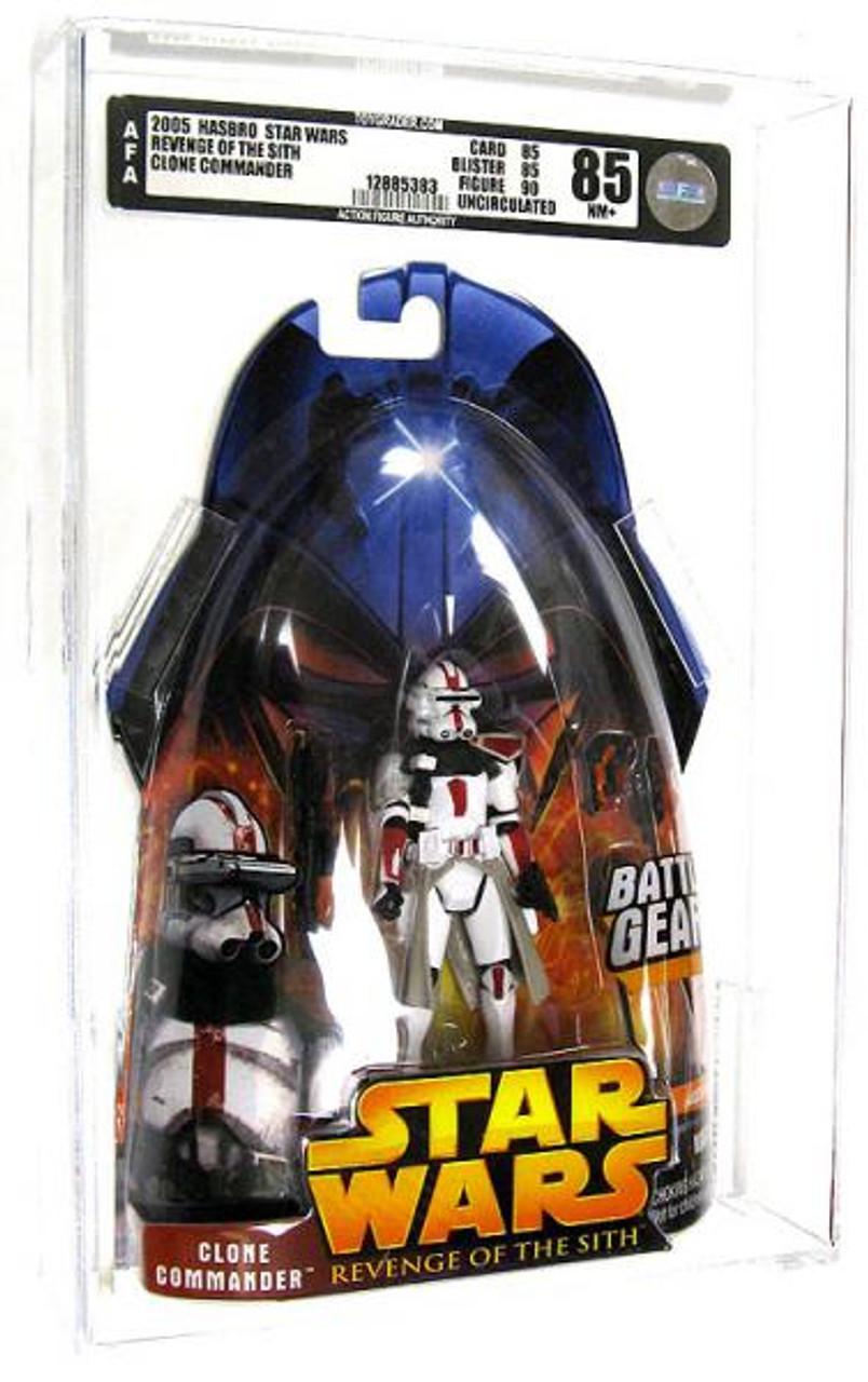 Star Wars Revenge of the Sith 2005 Clone Commander Action Figure [AFA 85] [AFA Graded 85]