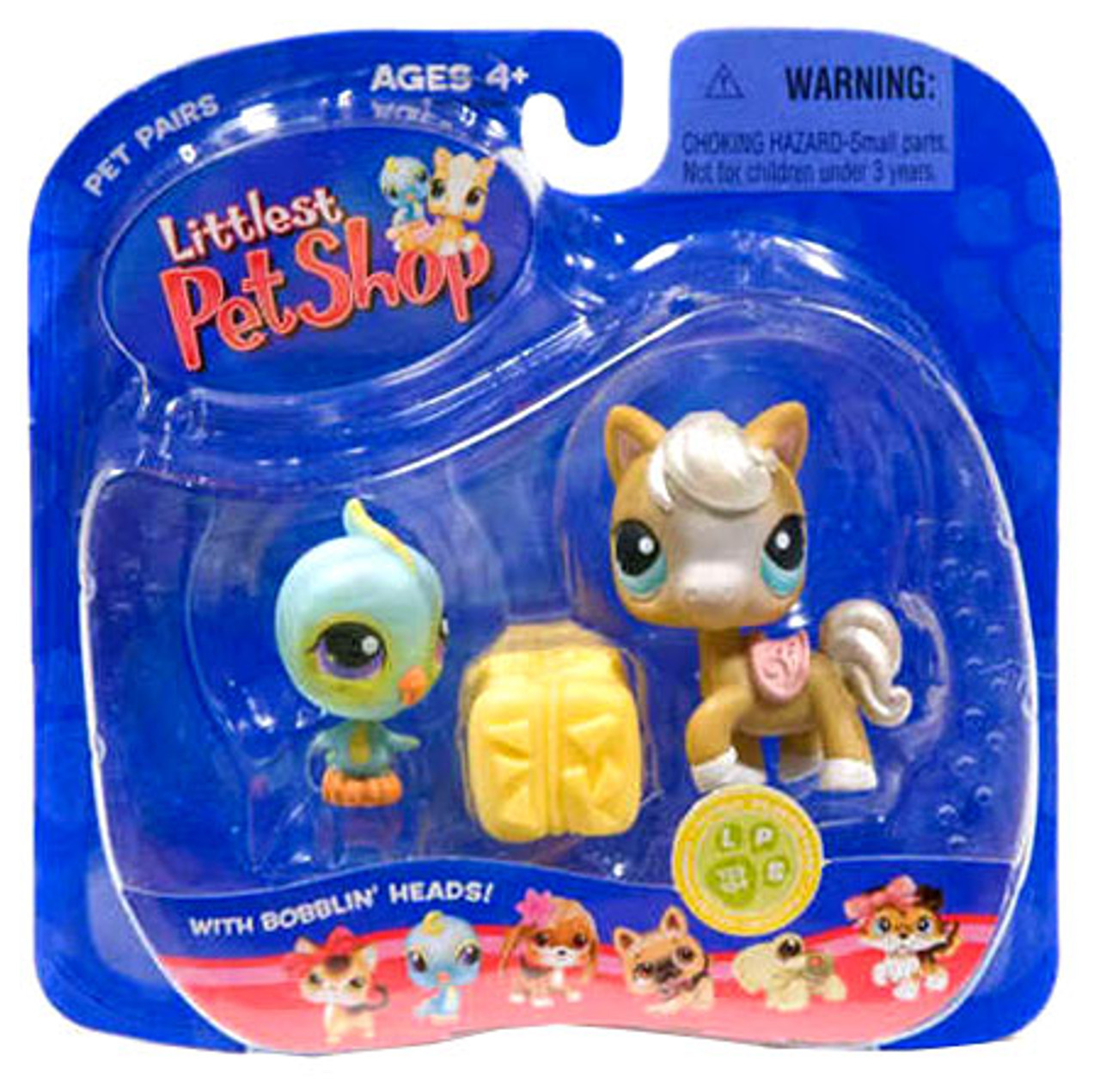 Littlest Pet Shop Pet Pairs Horse & Bird Figure 2-Pack