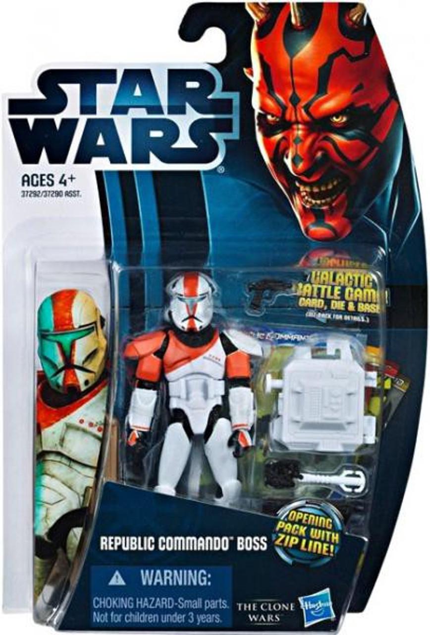 Star Wars The Clone Wars Clone Wars 2012 Republic Commando Boss Action Figure CW11