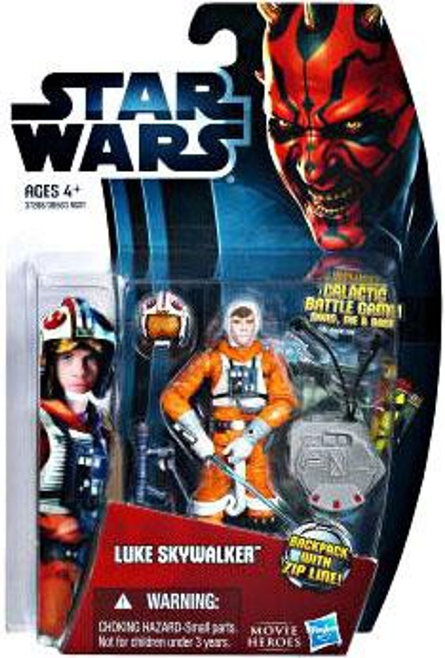 Star Wars Empire Strikes Back Movie Heroes 2012 Luke Skywalker Action Figure #21 [X-Wing Pilot]