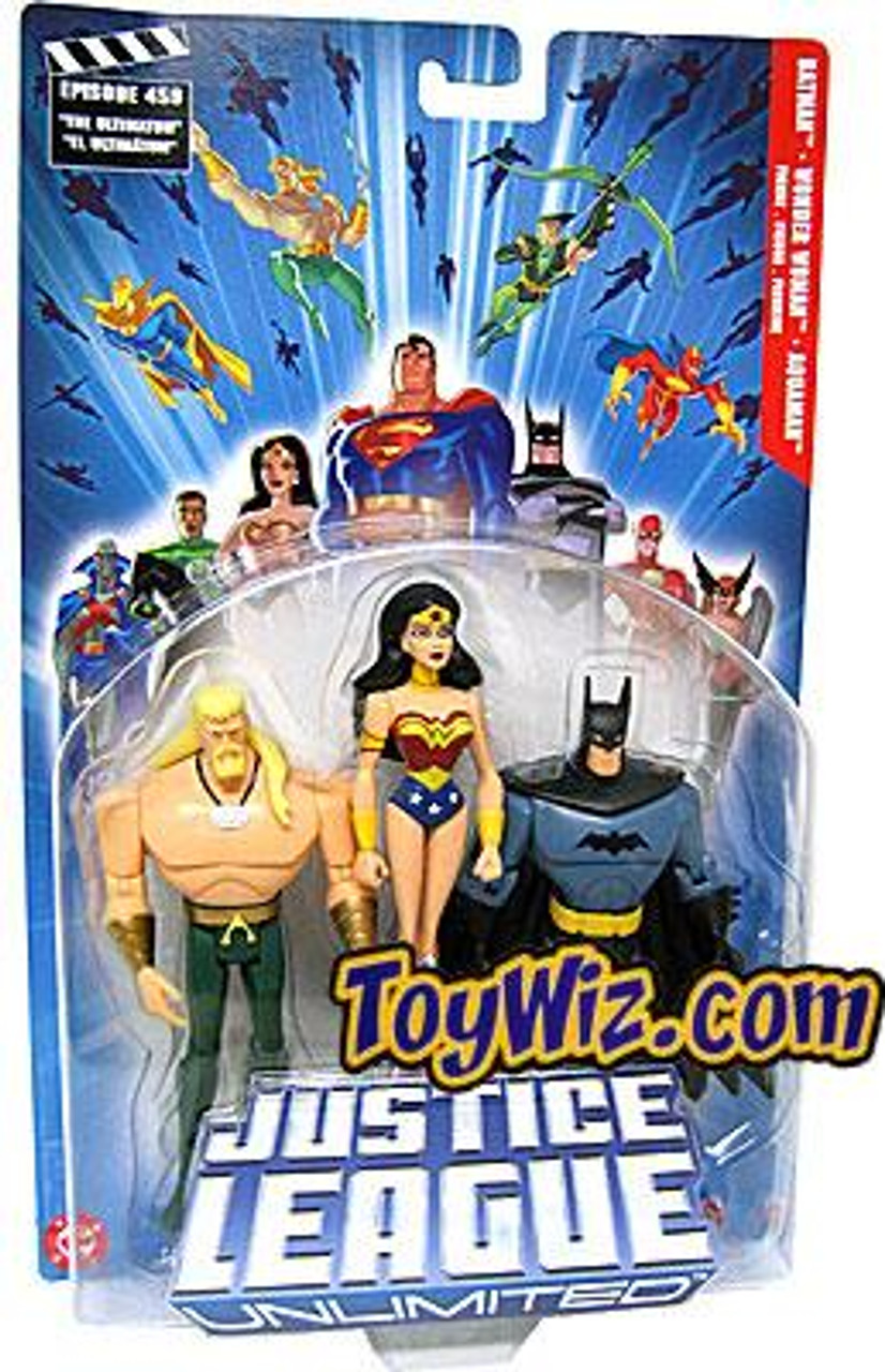 Justice League Unlimited Series 2 Batman, Wonder Woman & Aquaman Action Figure 3-Pack
