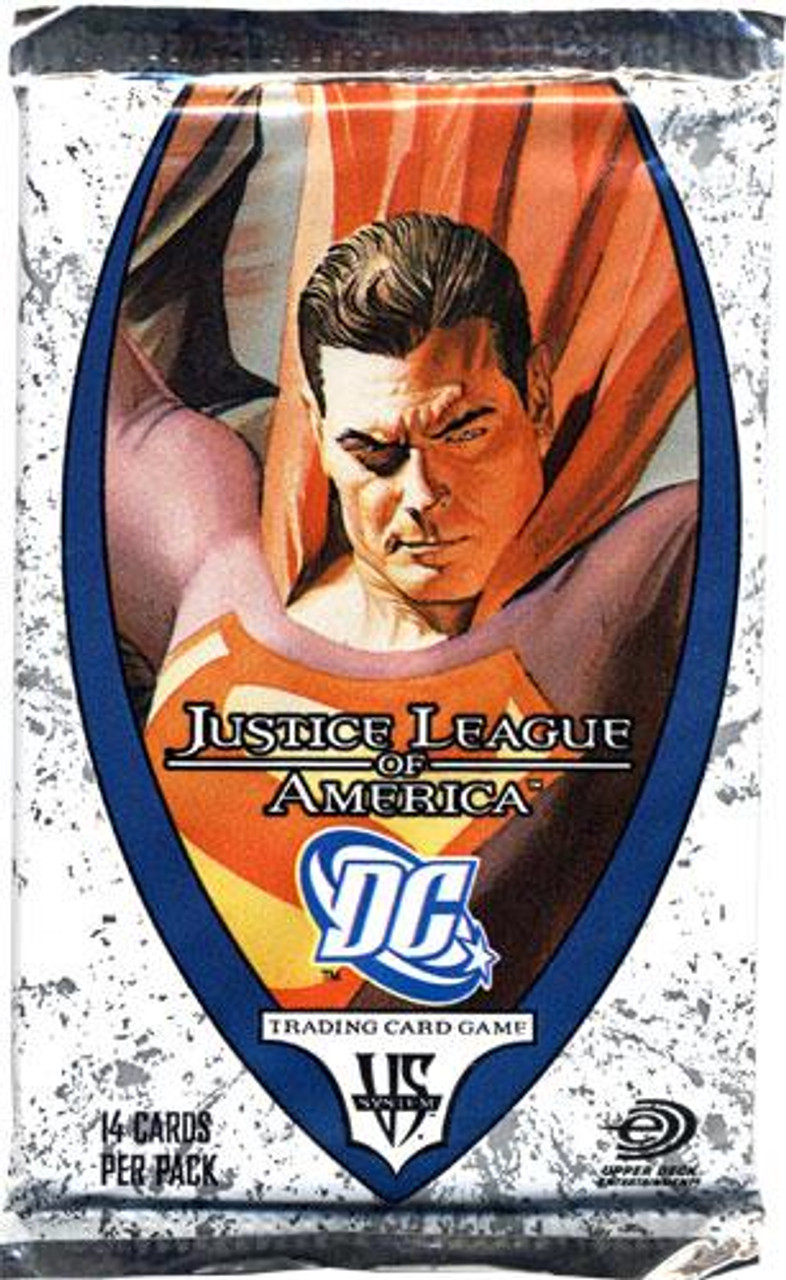 DC VS System Trading Card Game Justice League of America Booster Pack