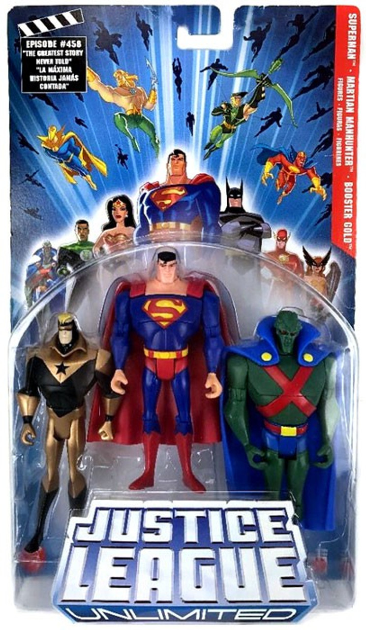 Justice League Unlimited Series 3 Superman, Martian Manhunter & Booster Gold Action Figure 3-Pack