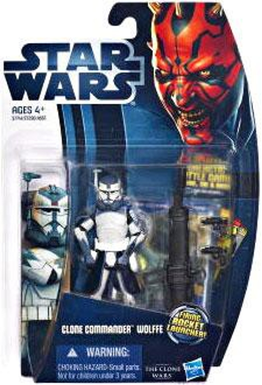 Star Wars The Clone Wars Clone Wars 2012 Clone Commander Wolffe Action Figure CW17