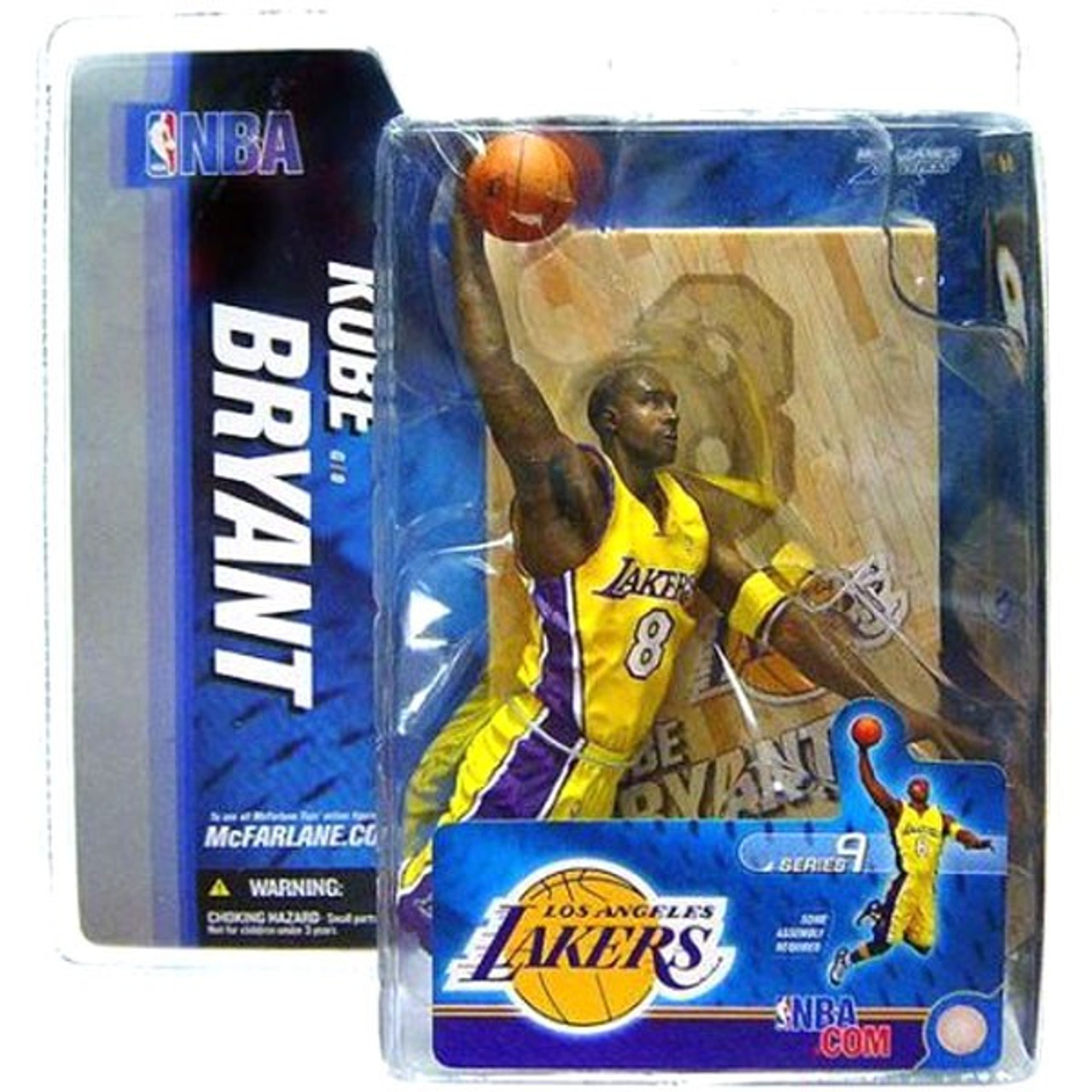 McFarlane Toys NBA Los Angeles Lakers Sports Picks Series 9 Kobe Bryant Action Figure [Purple Jersey Variant]