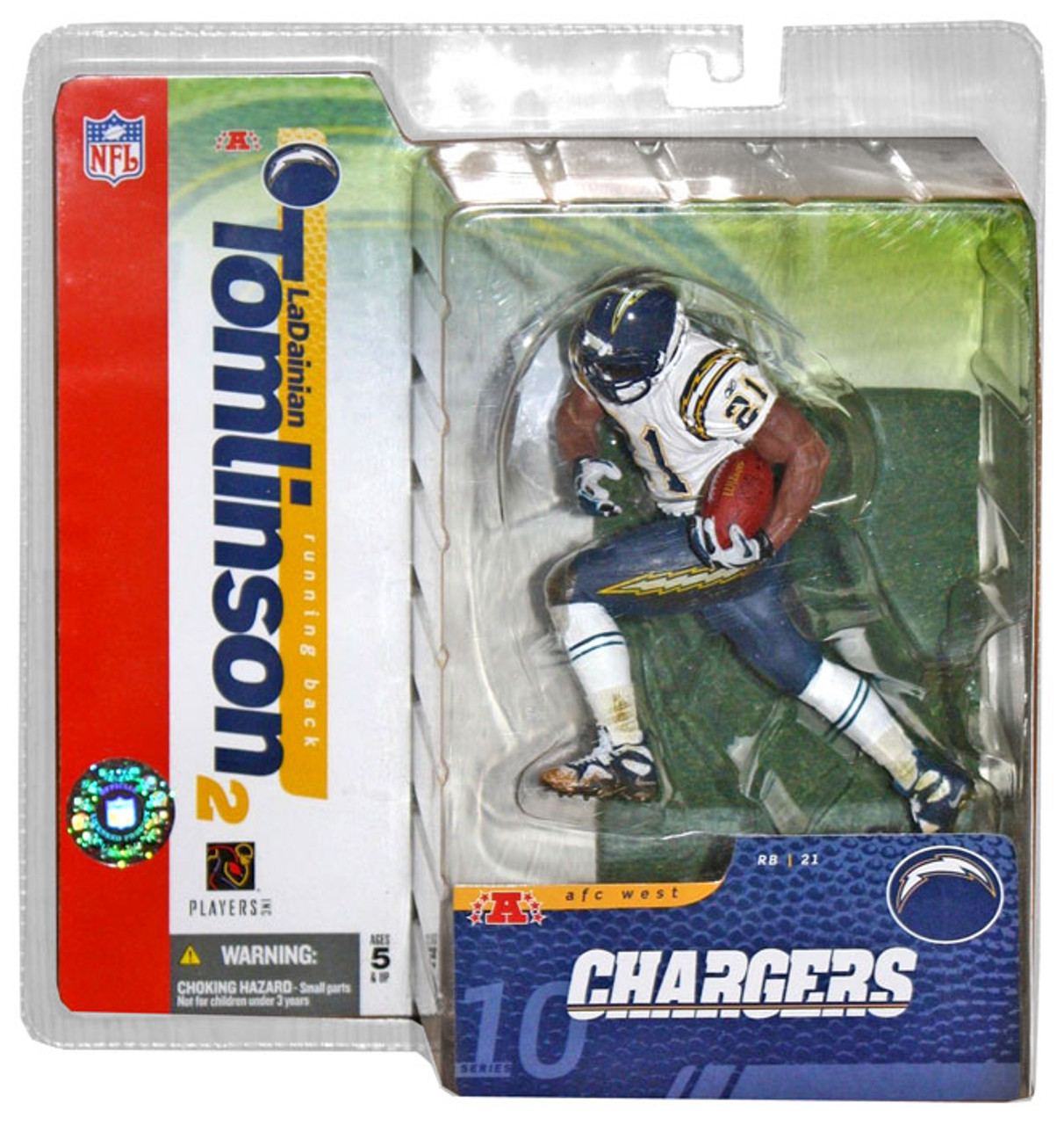 McFarlane Toys NFL San Diego Chargers Sports Picks Series 10 LaDainian Tomlinson Action Figure [White Jersey Variant]