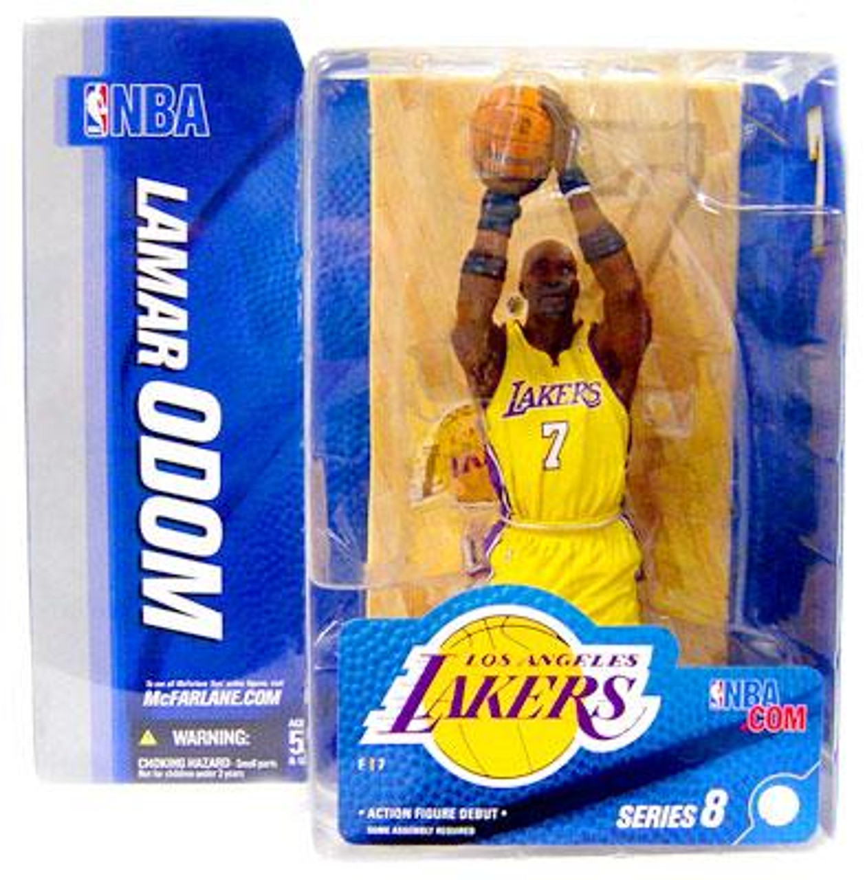 McFarlane Toys NBA Los Angeles Lakers Sports Picks Series 8 Lamar Odom Action Figure [Yellow Jersey Variant]