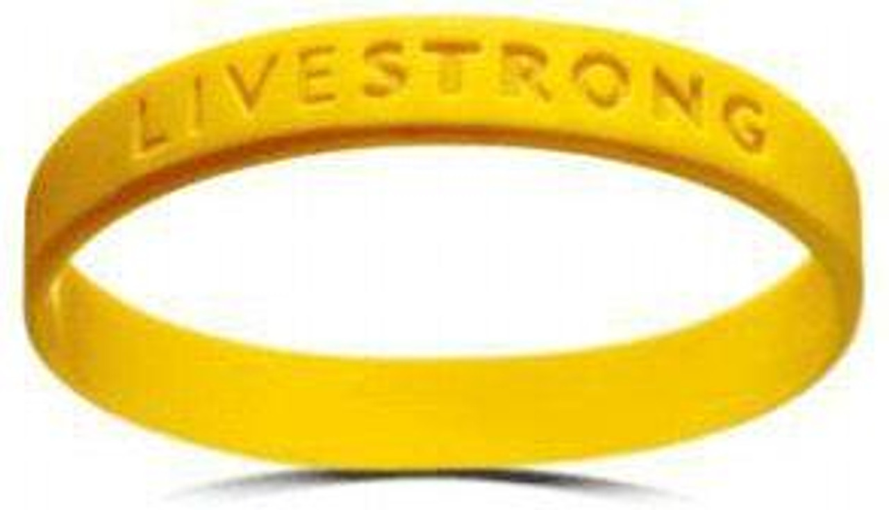 Lance Armstrong LiveSTRONG Rubber Bracelet [Youth]