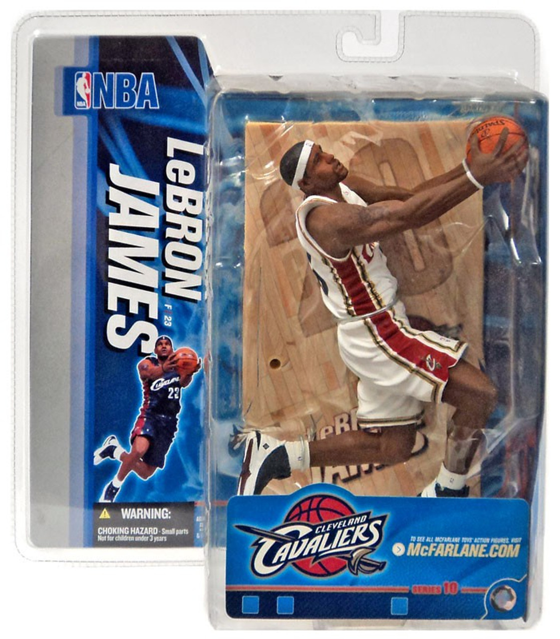 McFarlane Toys NBA Cleveland Cavaliers Sports Picks Series 10 LeBron James Action Figure [White Jersey Variant]