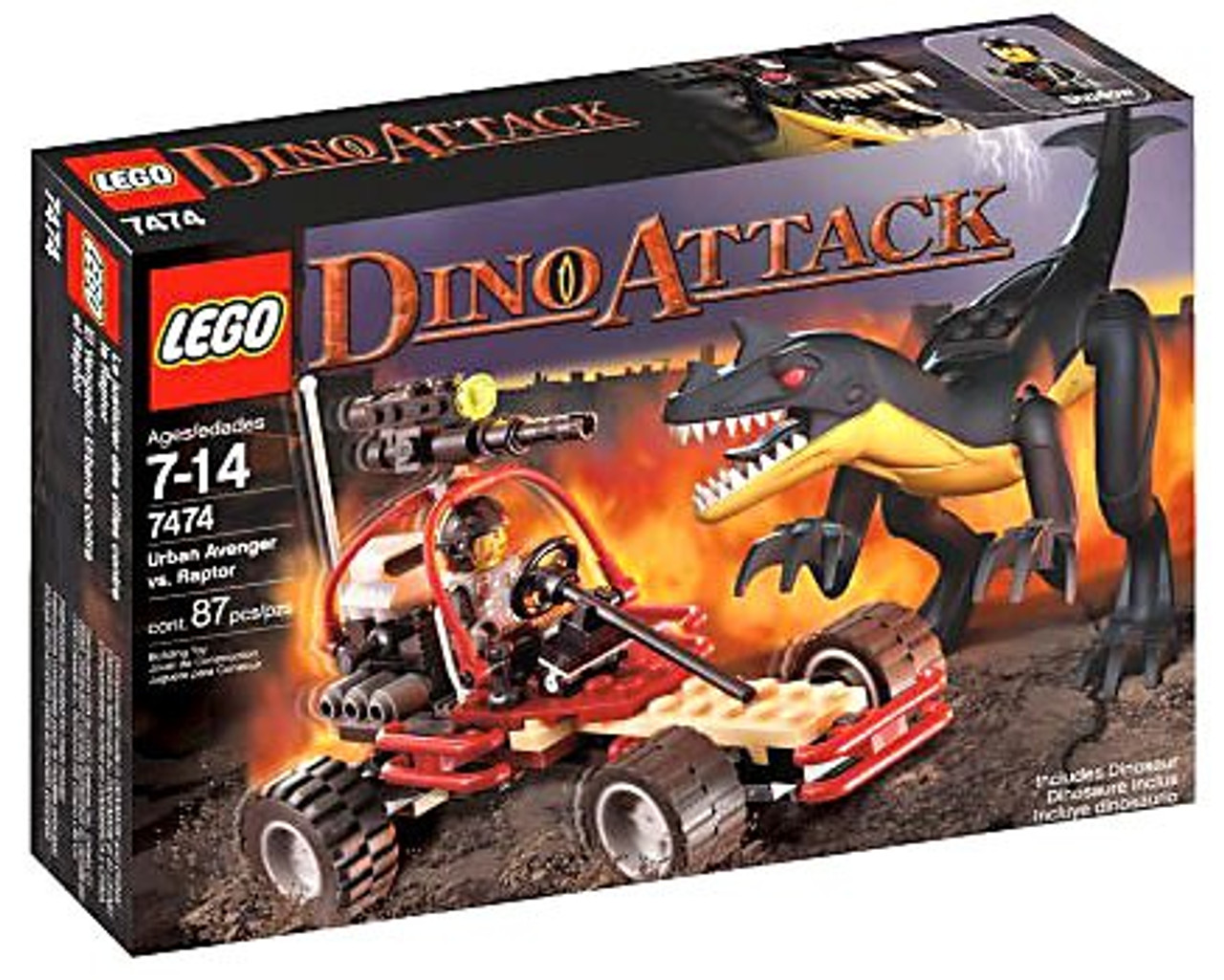 LEGO Dino Attack Urban Avenger vs. Raptor Set #7474