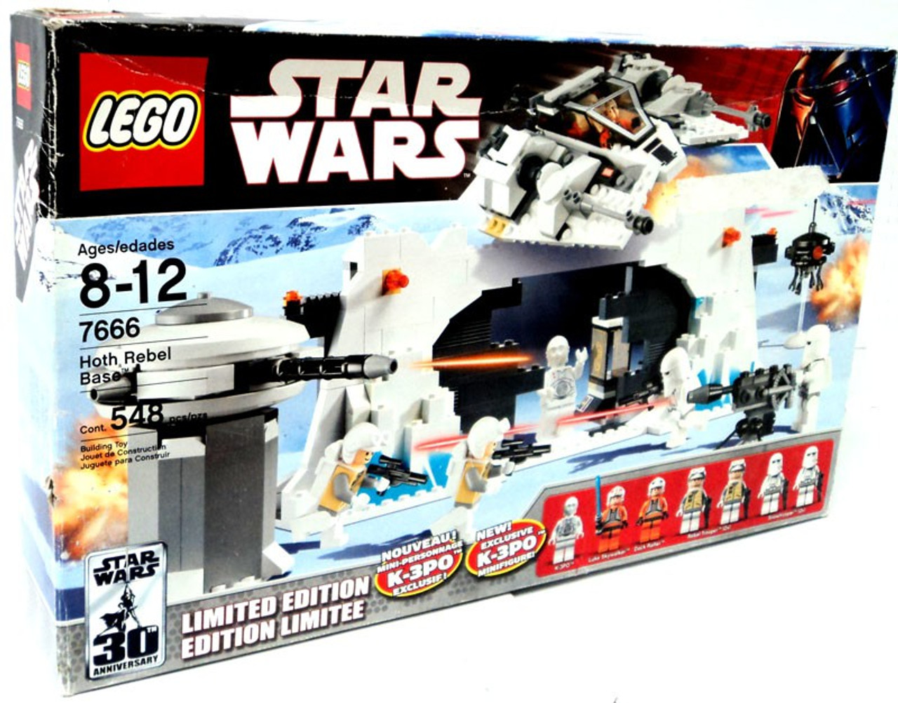 LEGO Star Wars Empire Strikes Back Hoth Rebel Base Exclusive Set #7666 [Damaged Package]