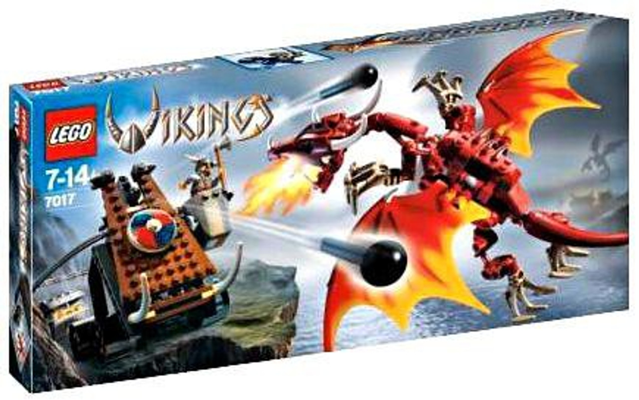 LEGO Vikings Viking Catapult Versus the Nidhogg Dragon Set #7017
