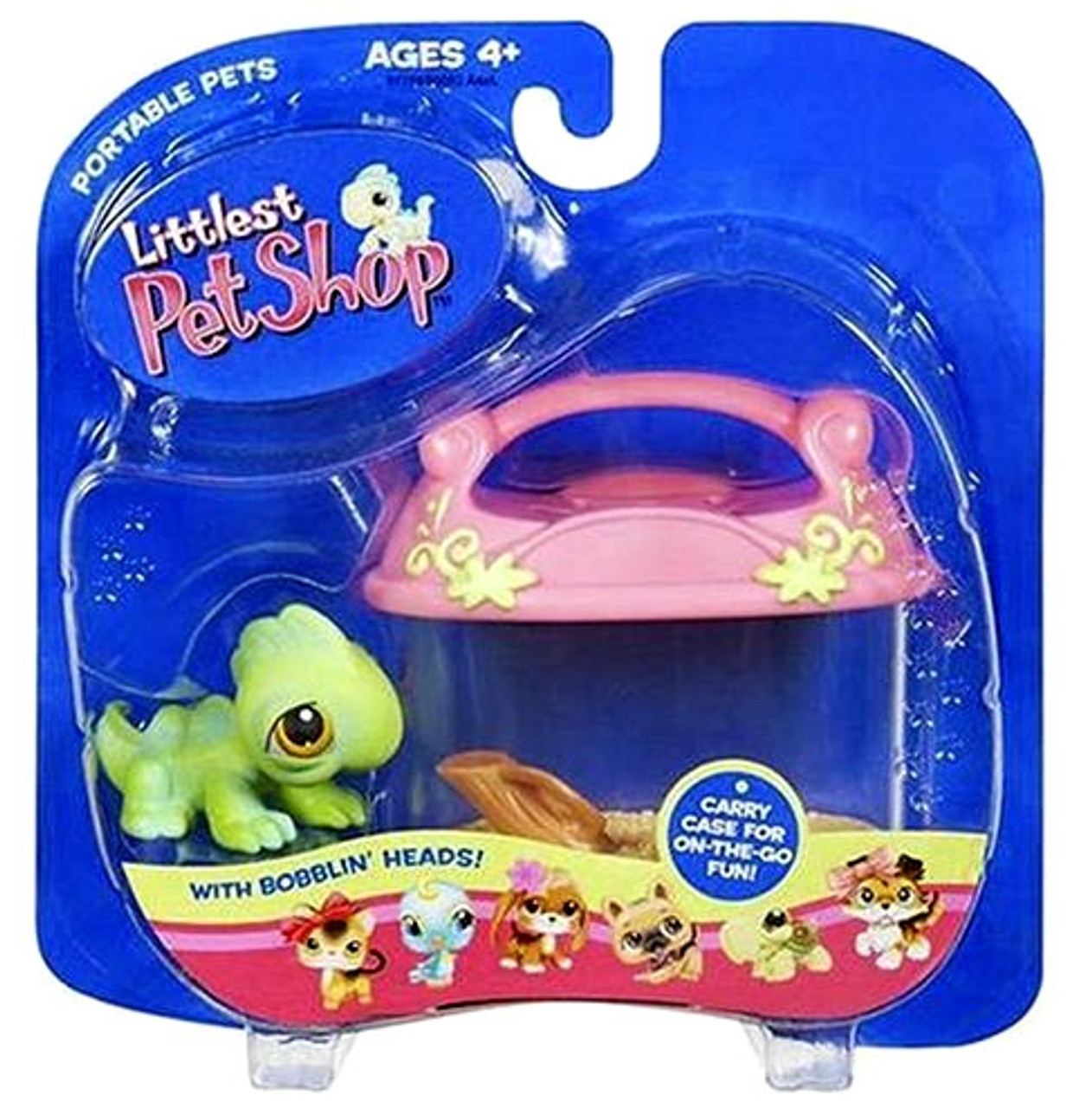 Littlest Pet Shop Portable Pets Iguana Figure [Carry Case]