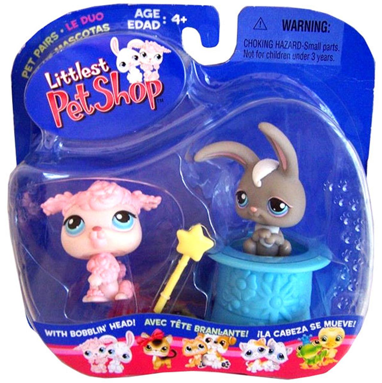Littlest Pet Shop Pet Pairs Poodle & Bunny Figure 2-Pack [In Hat]