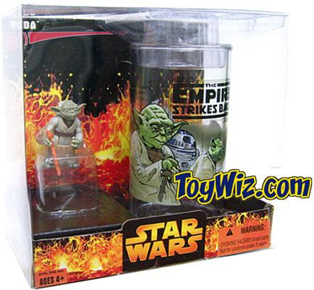Star Wars Empire Strikes Back Yoda Collector's Cup & Figure