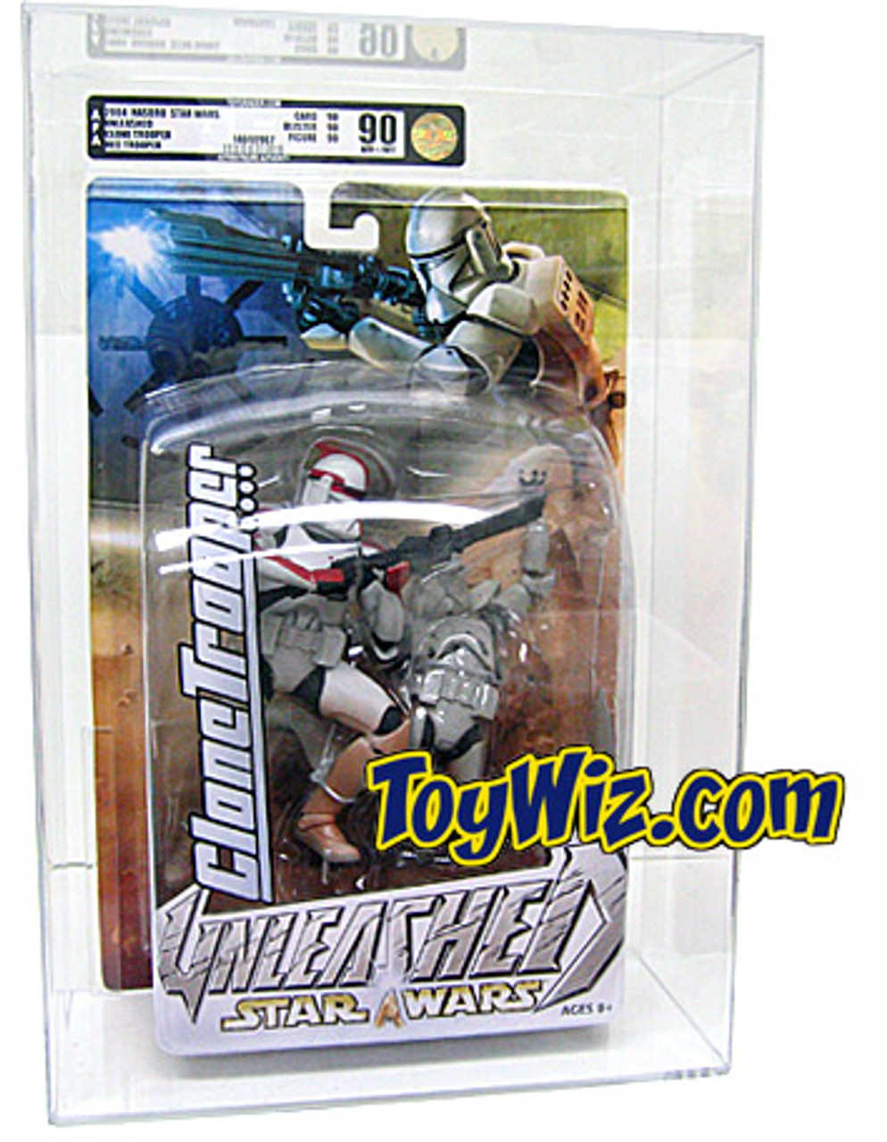 Star Wars Revenge of the Sith Unleashed Clone Trooper Action Figure [AFA 90] [AFA Graded 90]