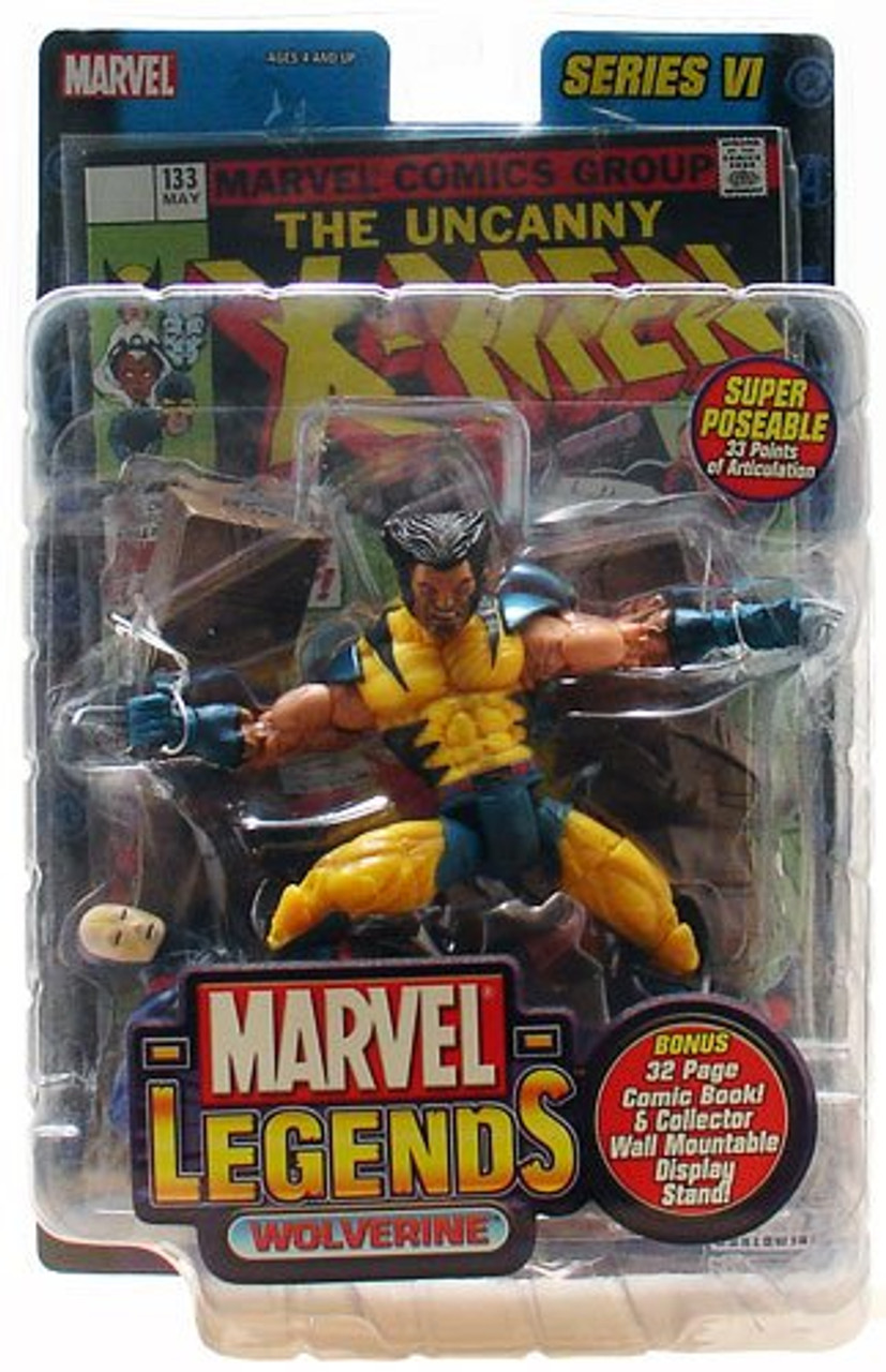 Marvel Legends Series 6 Wolverine Action Figure [Unmasked Variant]
