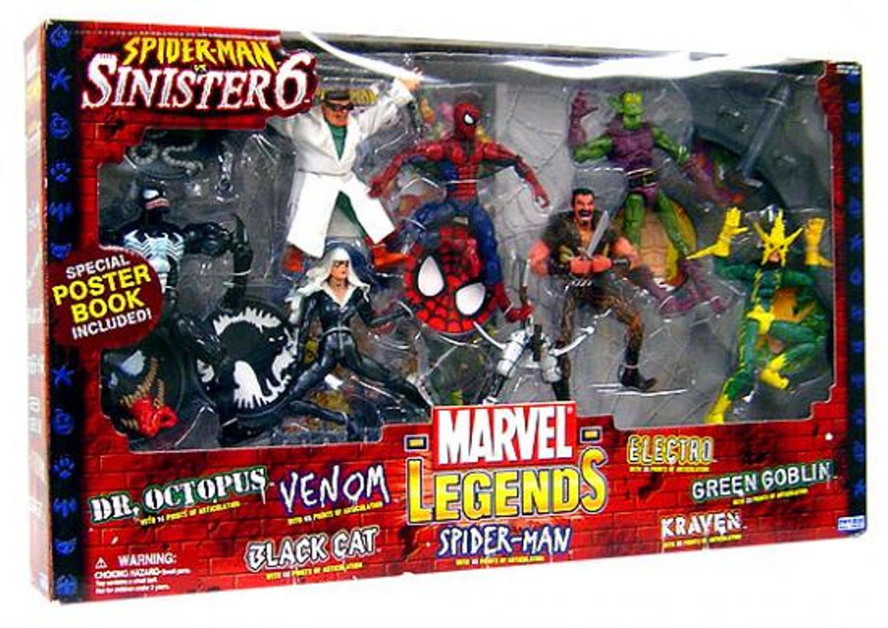 Marvel Legends Boxed Sets Spider-Man vs. Sinister 6 Action Figure Boxed Set