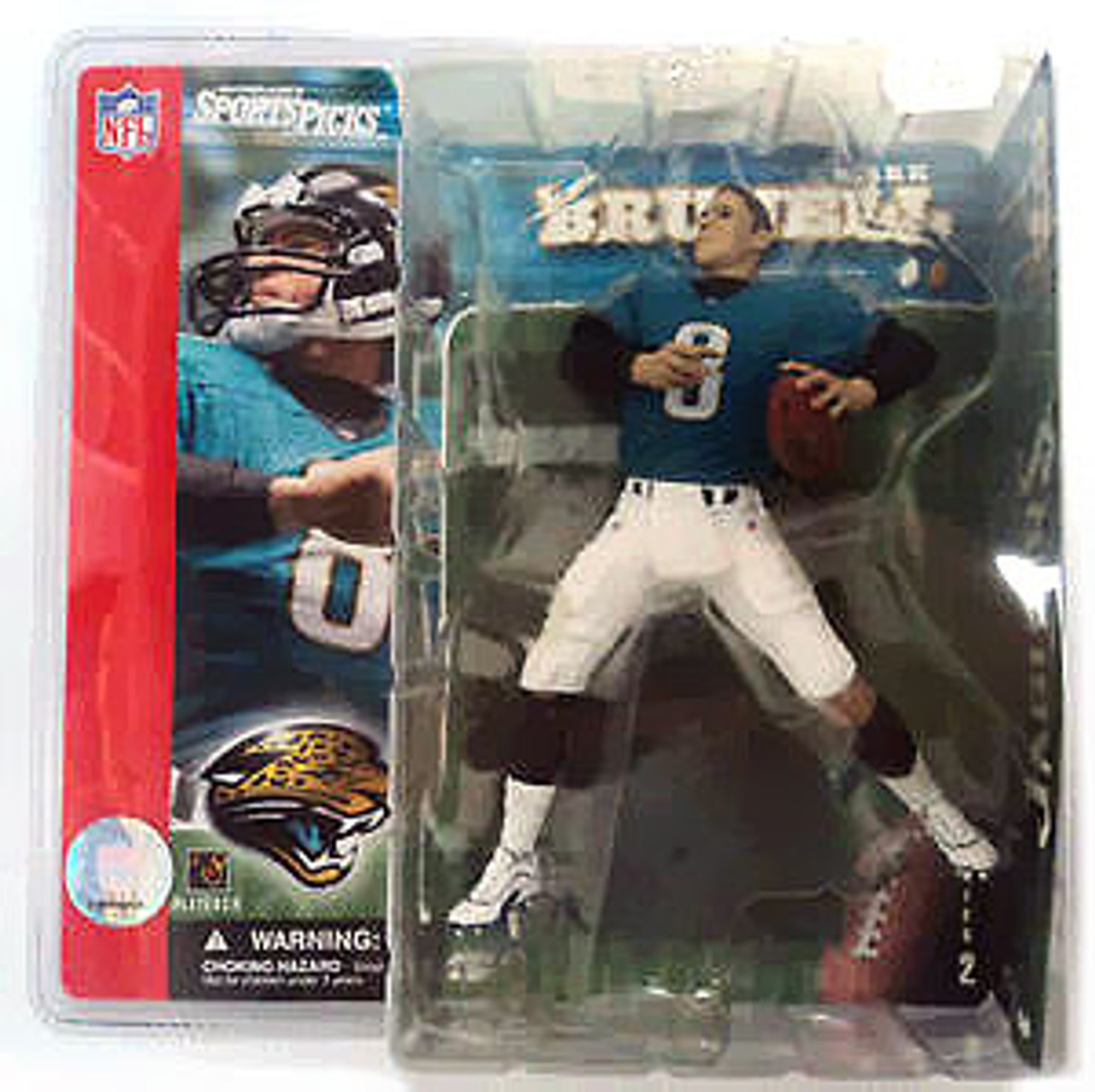 McFarlane Toys NFL Jacksonville Jaguars Sports Picks Series 2 Mark Brunell Action Figure [No Helmet Variant]