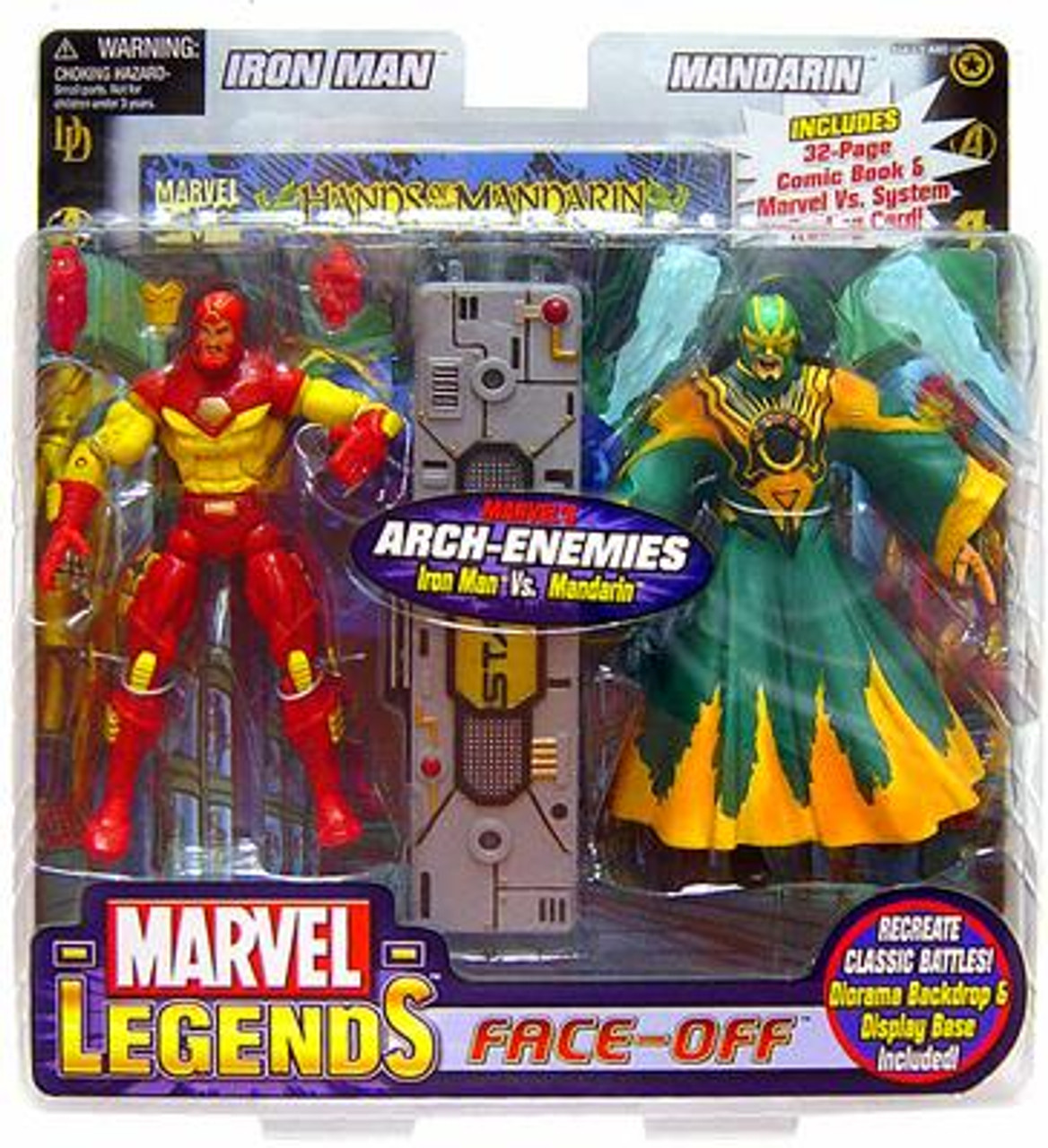 Marvel Legends Face Off Series 2 Iron Man vs. Mandarin Action Figure