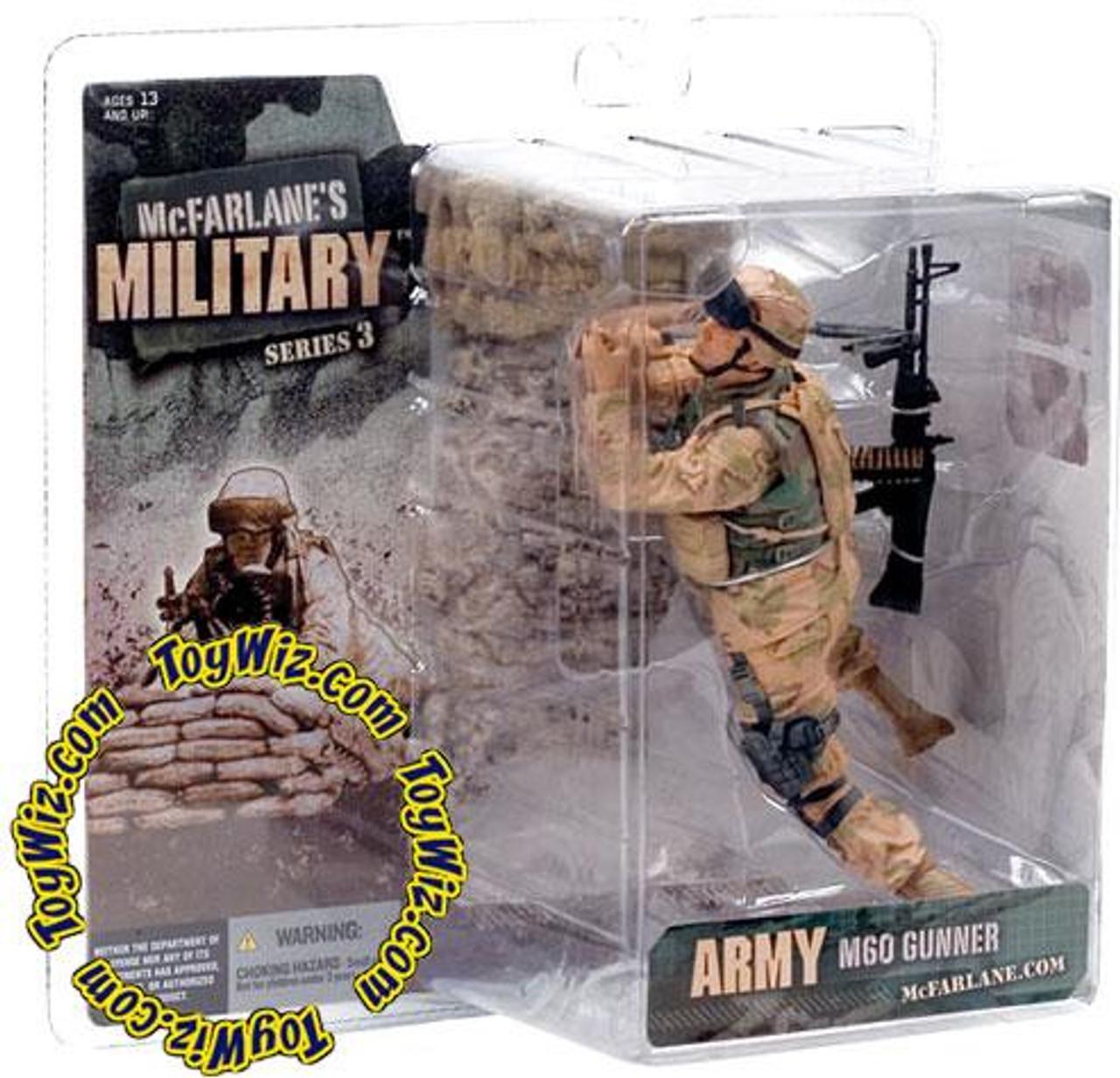 McFarlane Toys Military Series 3 Army M60 Gunner Action Figure [Random Ethnicity]