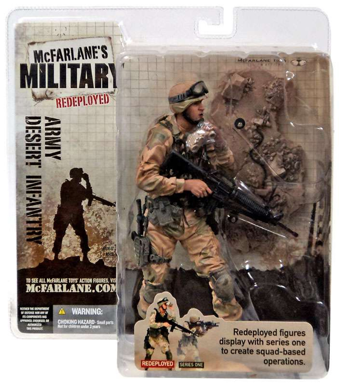 McFarlane Toys Military Redeployed Series 1 Army Desert Infantry Action Figure [Caucasian]