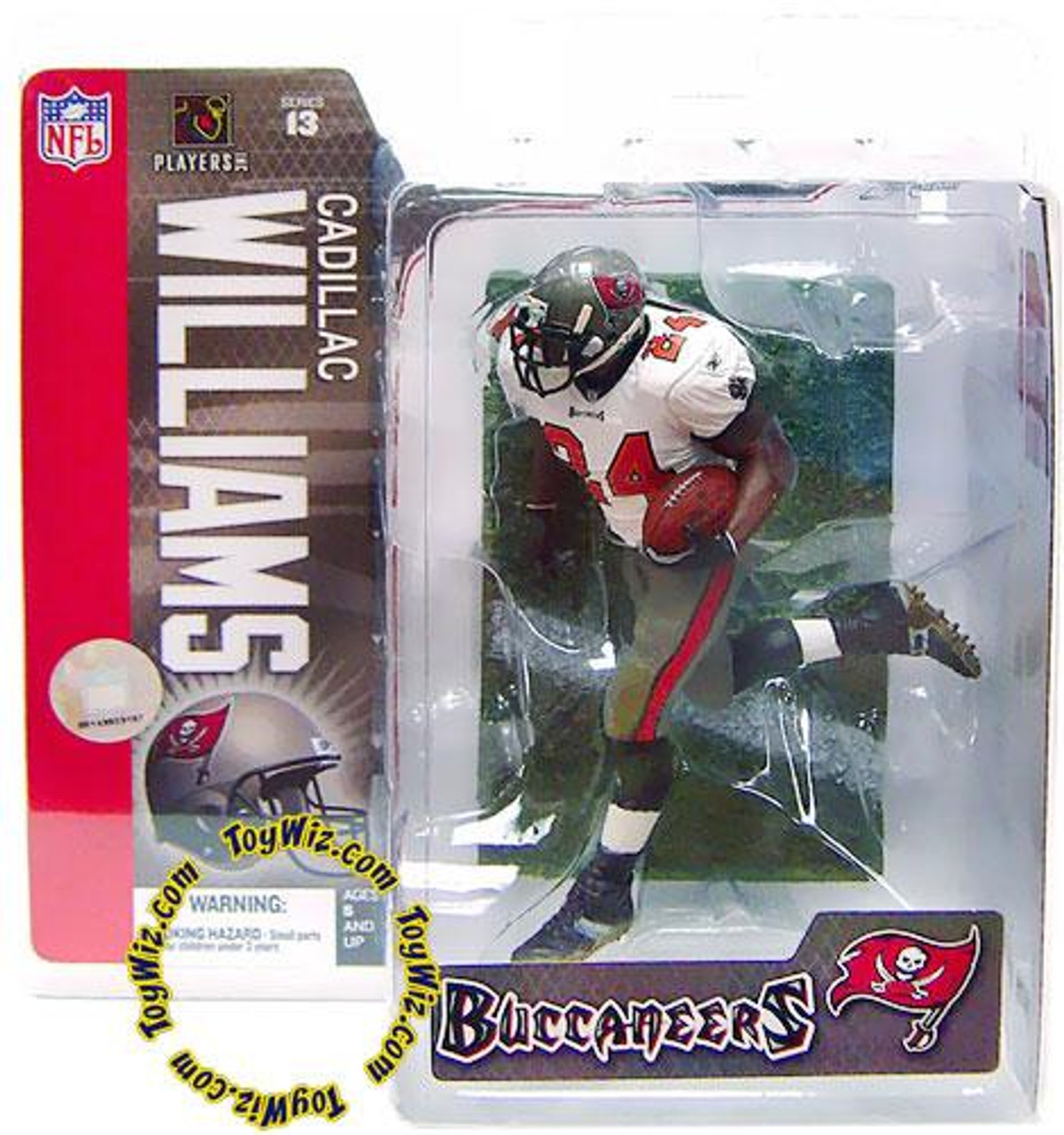McFarlane Toys NFL Tampa Bay Buccaneers Sports Picks Series 13 Cadillac Williams Action Figure [White Jersey]