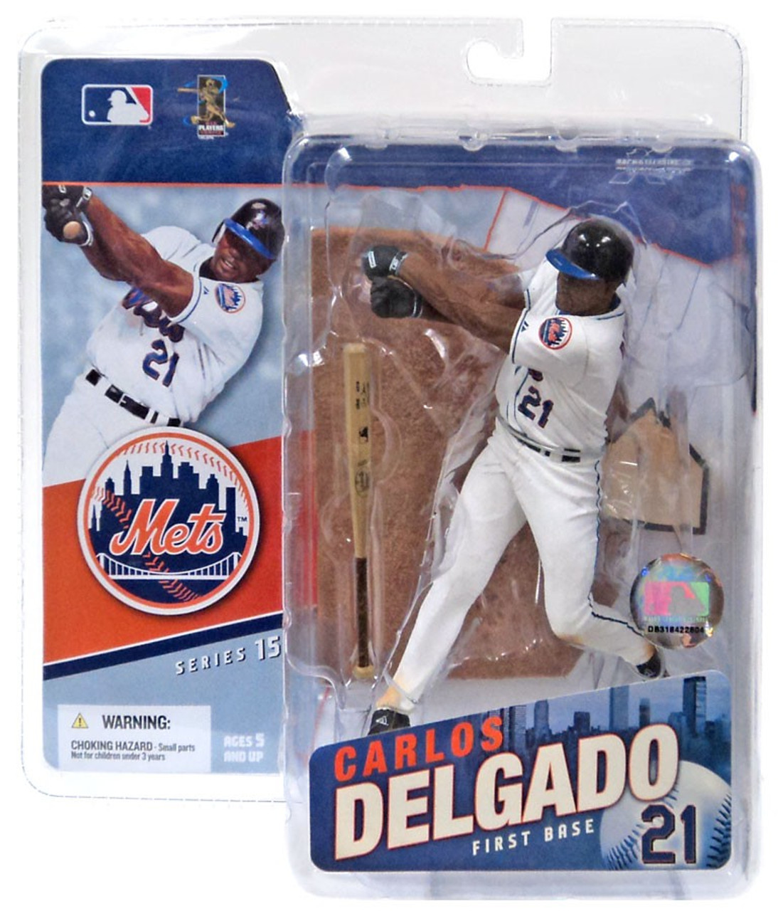 McFarlane Toys MLB New York Mets Sports Picks Series 15 Carlos Delgado Action Figure [White Jersey]