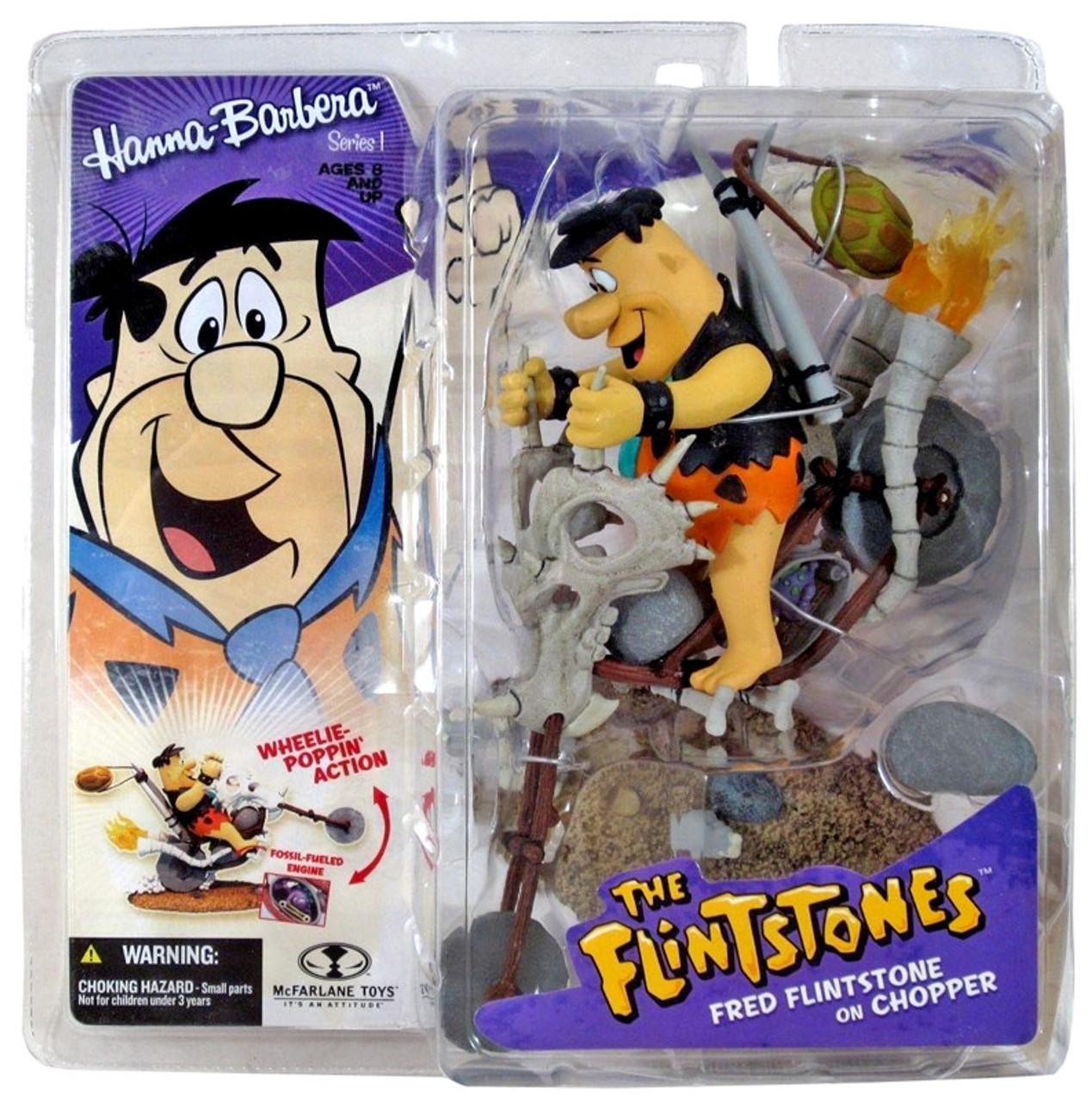 McFarlane Toys Hanna-Barbera The Flintstones Fred Flintstone on Chopper Action Figure
