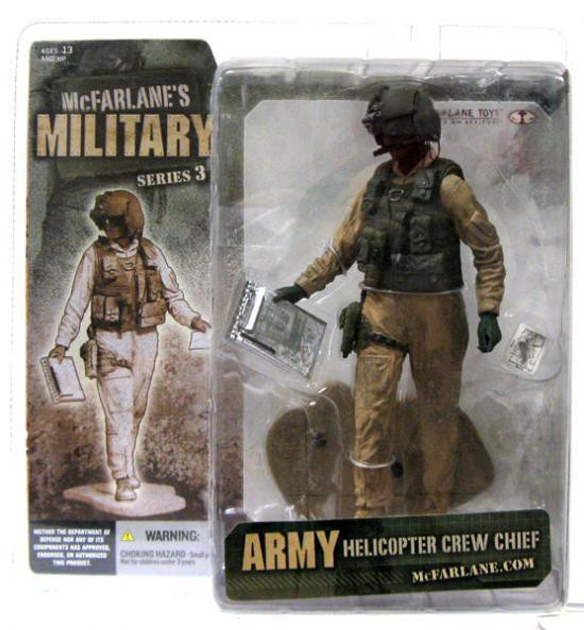 McFarlane Toys Military Series 3 Army Helicopter Crew Chief Action Figure [African American]