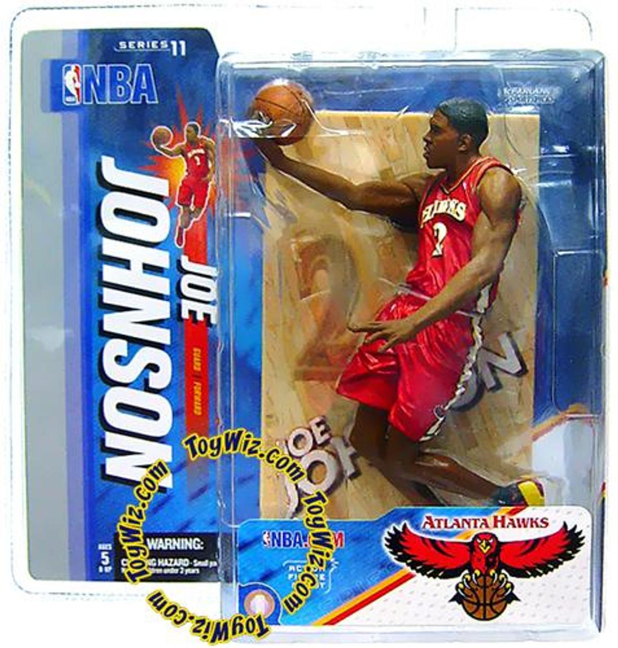 McFarlane Toys NBA Atlanta Hawks Sports Picks Series 11 Joe Johnson Action Figure [Red Jersey]
