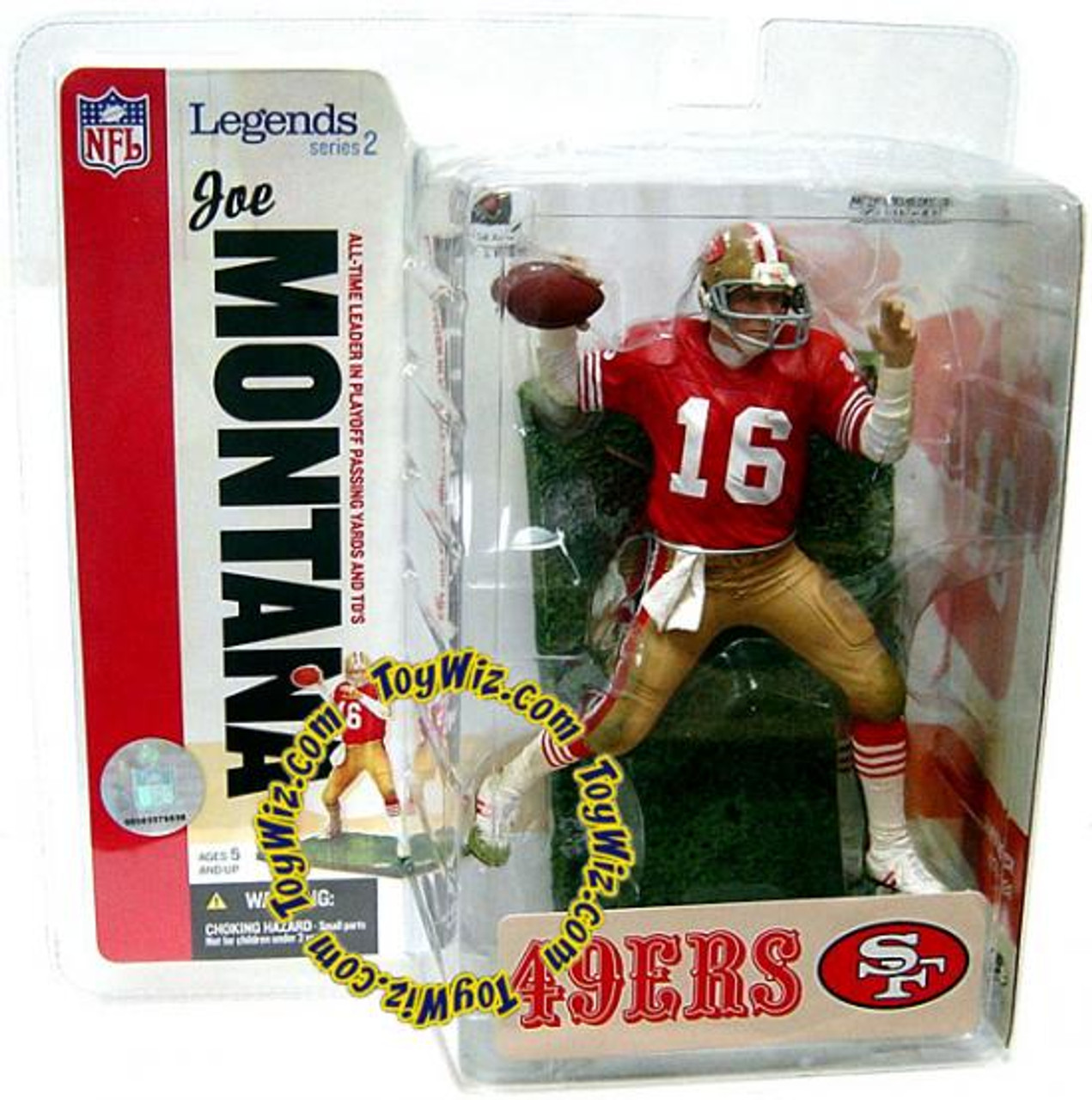 McFarlane Toys NFL San Francisco 49ers Sports Picks Legends Series 2 Joe Montana Action Figure [Red Jersey]